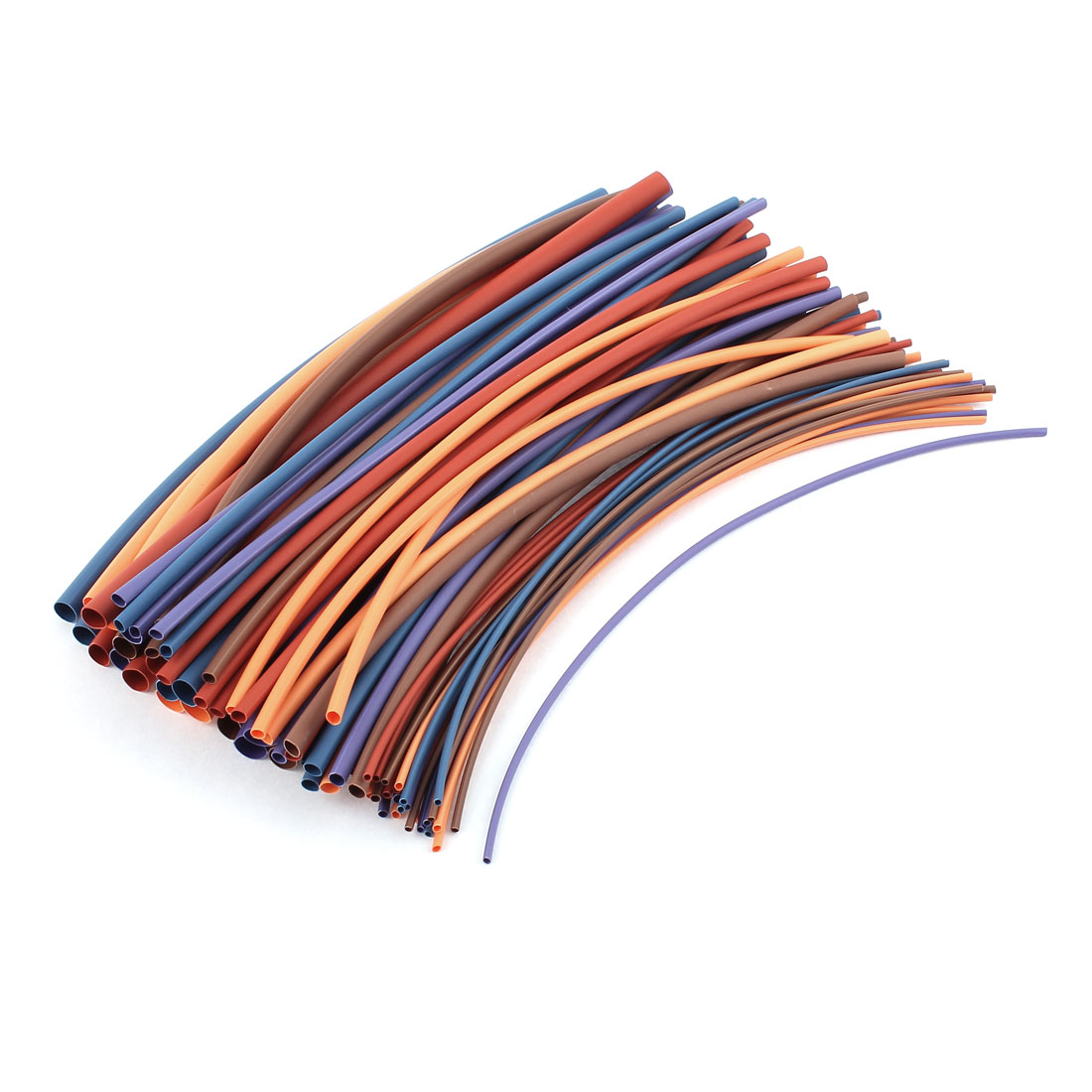 80pcs 5 Assorted Color 6 Assorted Size Heat Shrink Tube Sleeving Wrap Wire Kit