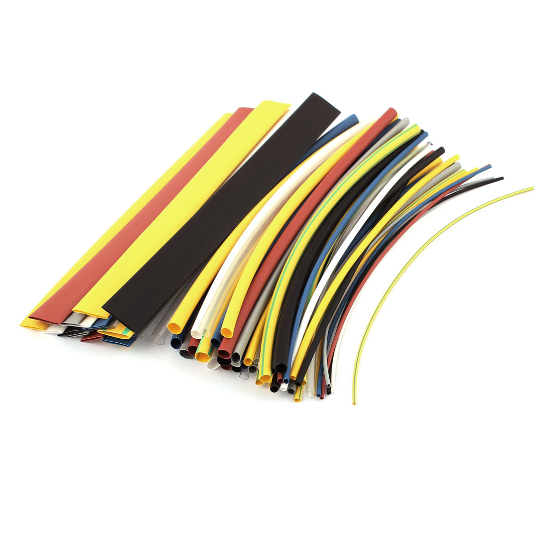 64pcs 8 Assorted Color 8 Assorted Size Heat Shrink Tube Sleeving Wrap Wire Kit