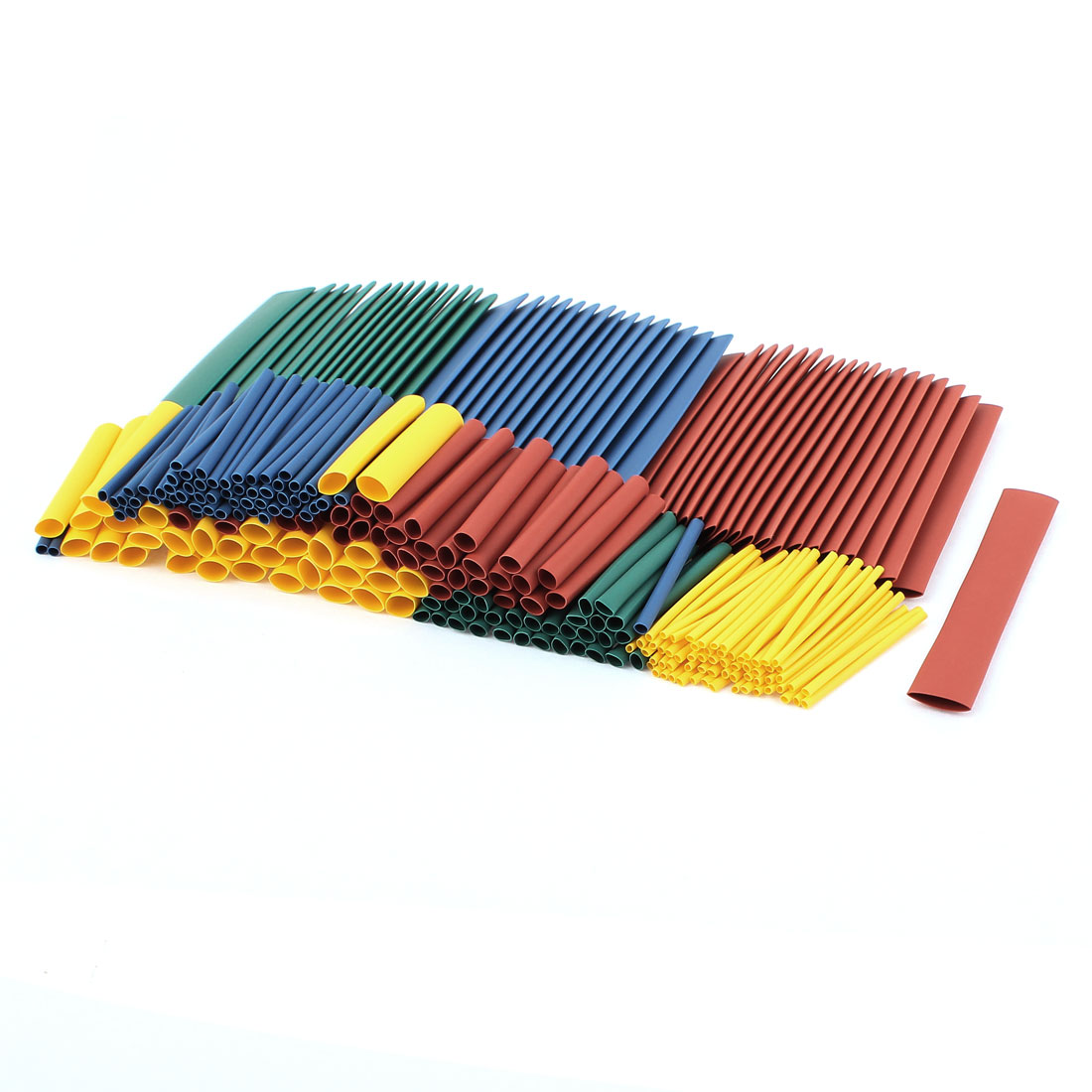 260pcs 2:1 Polyolefin Assorted Color Assorted Size Heat Shrink Tubing Tube
