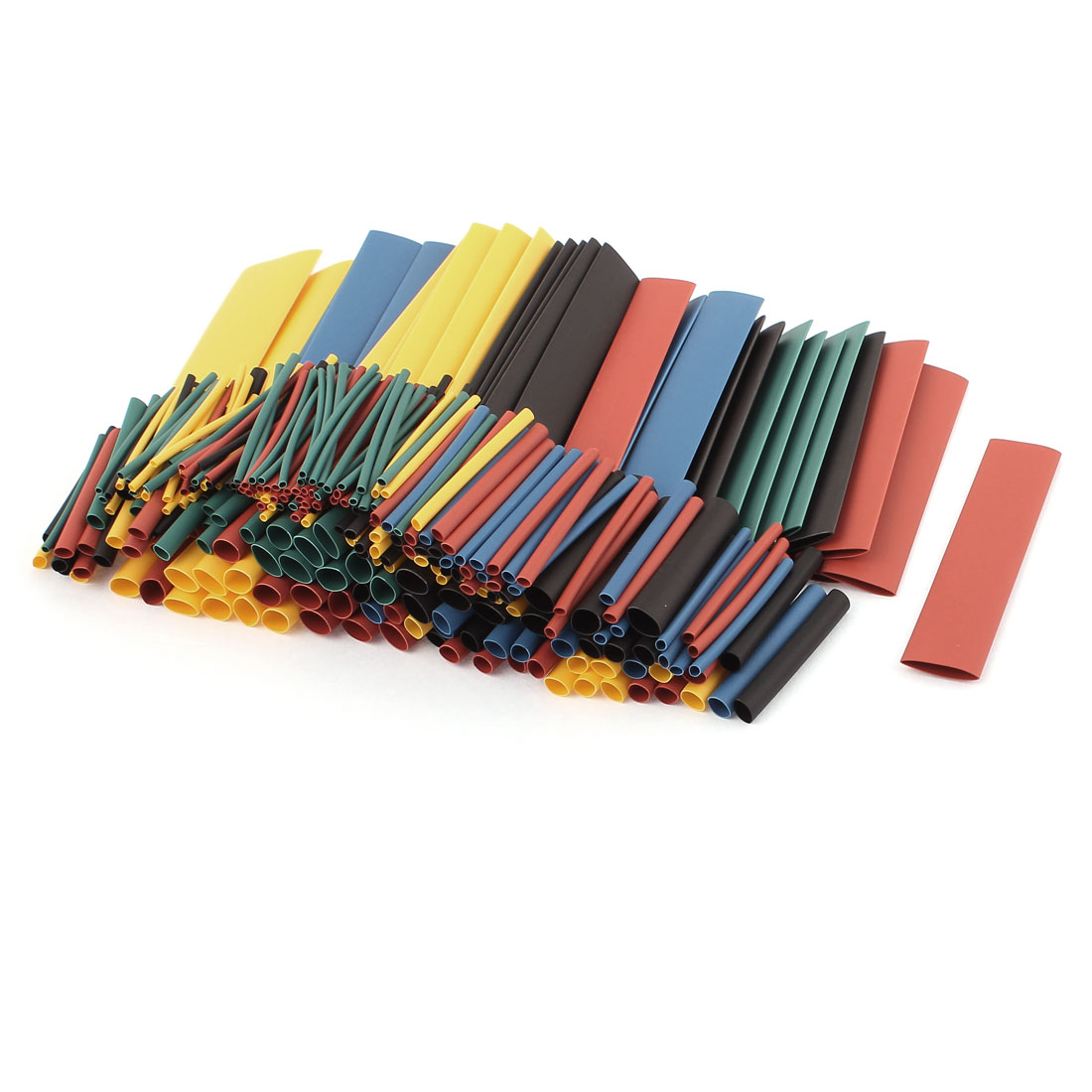 328pcs 5 Assorted Color 9 Assorted Size Heat Shrink Tube Sleeving Wrap Wire Kit
