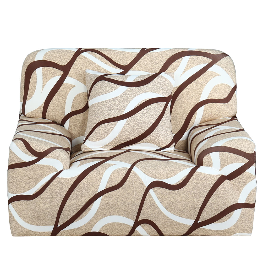 Household Polyester Geometric Pattern Elastic Sofa Chair Cover Slipcover Protector 35-55 Inch