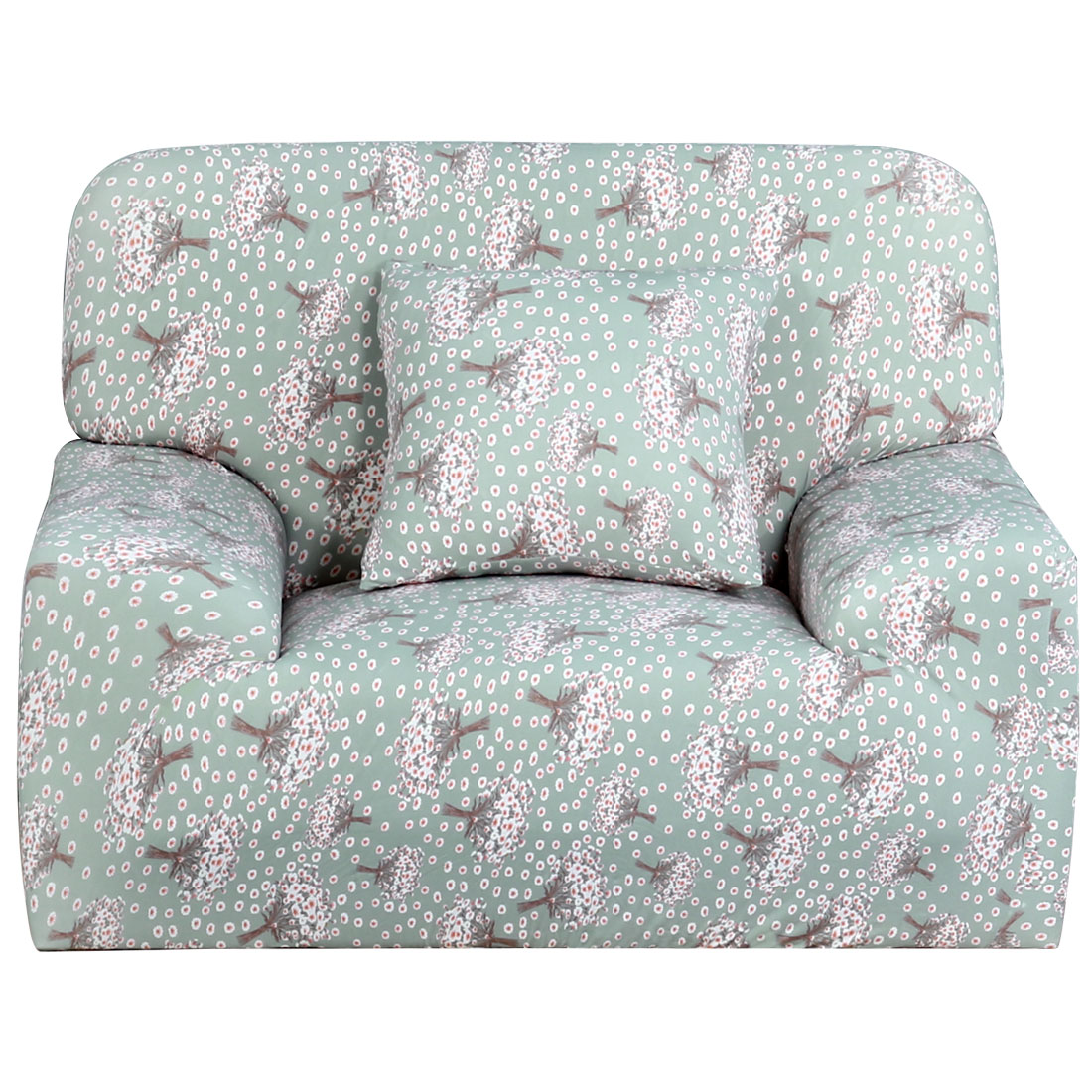 Household Polyester Hyacinth Prints Elastic Sofa Chair Cover Slipcover Protector 35-55 Inch