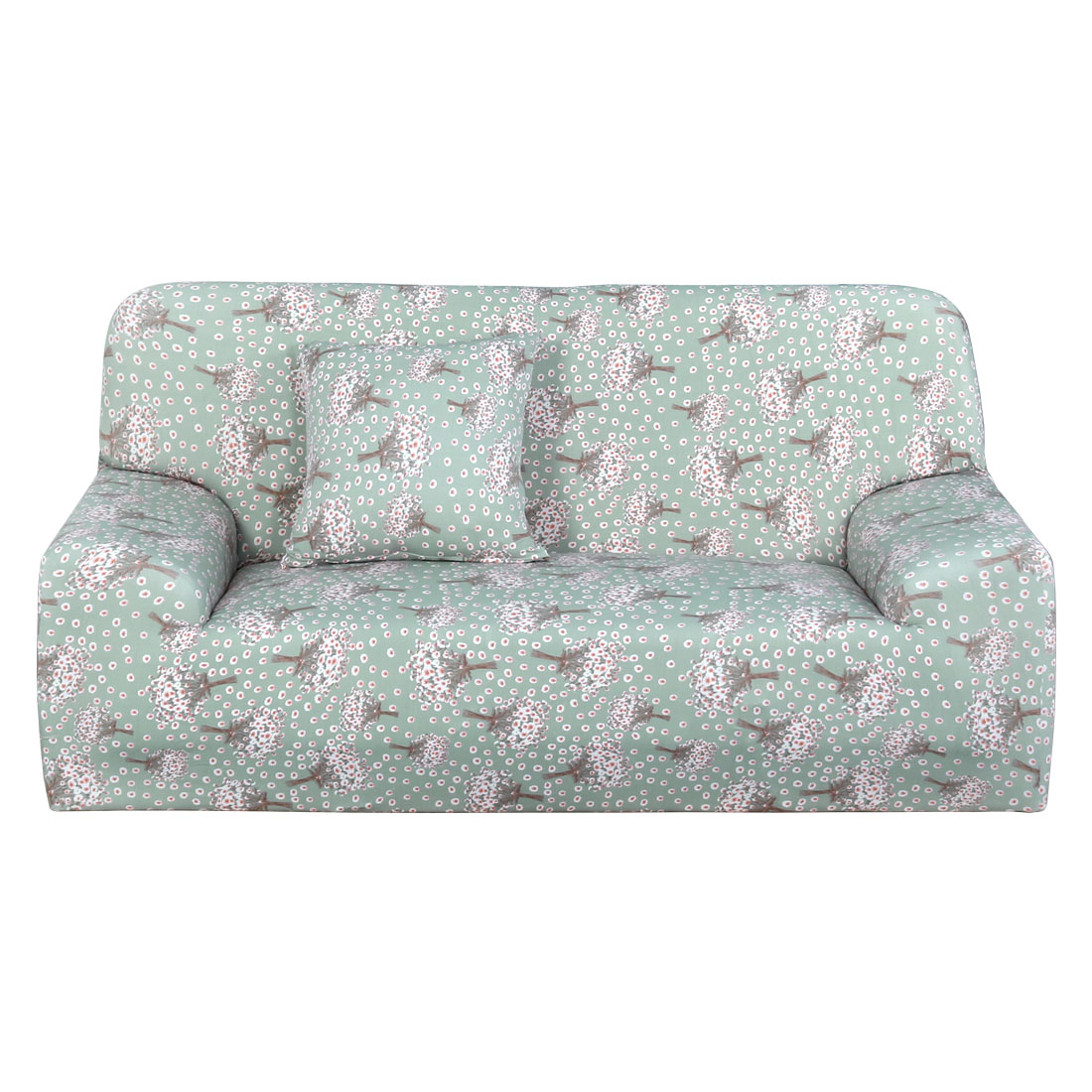 Household Polyester Hyacinth Pattern Elastic 3 Seats Sofa Cover Slipcover Protector 74''-90''
