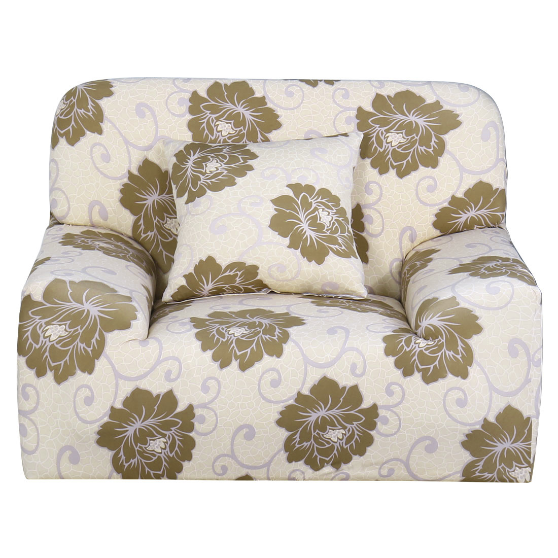Household Polyester Flower Pattern Elastic Sofa Chair Cover Slipcover Protector 35-55 Inch