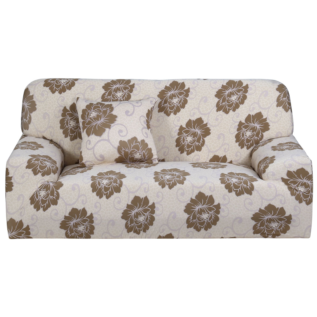 Household Polyester Flower Prints Elastic 3 Seats Sofa Cover Slipcover Protector 74''-90''