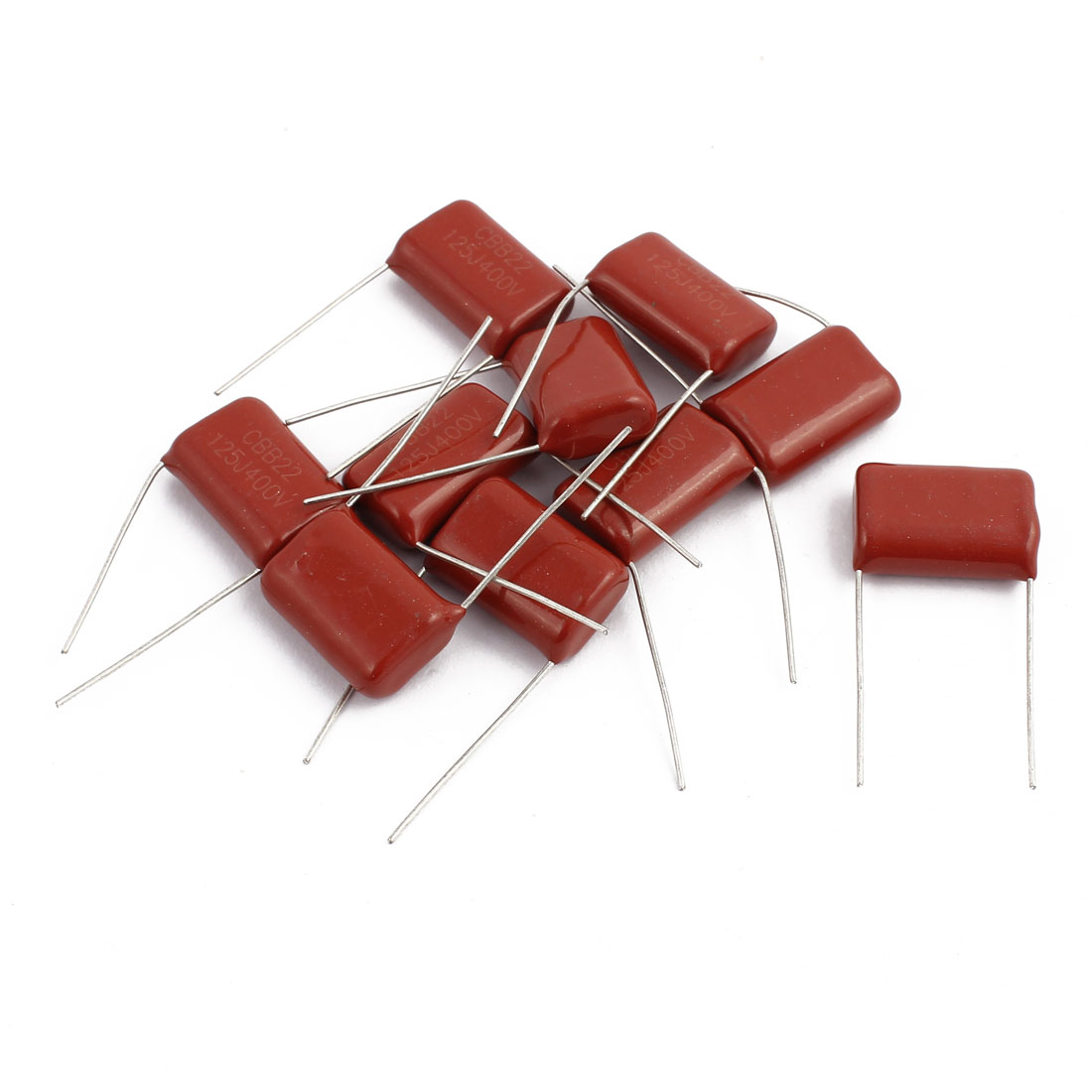 CBB22 DC 400V Metallized Polypropylene Film Capacitor 10 Pcs