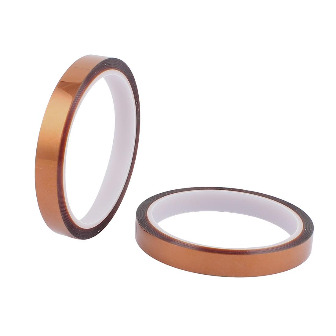 2 Pcs 1.2CM Width 33M Long DIY Tape High Temperature Heat Resistant Polyimide