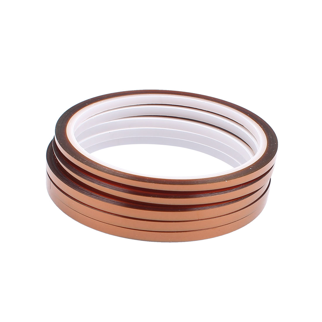 5 Pcs 0.4CM Width 30M Long DIY Tape High Temperature Heat Resistance Polyimide