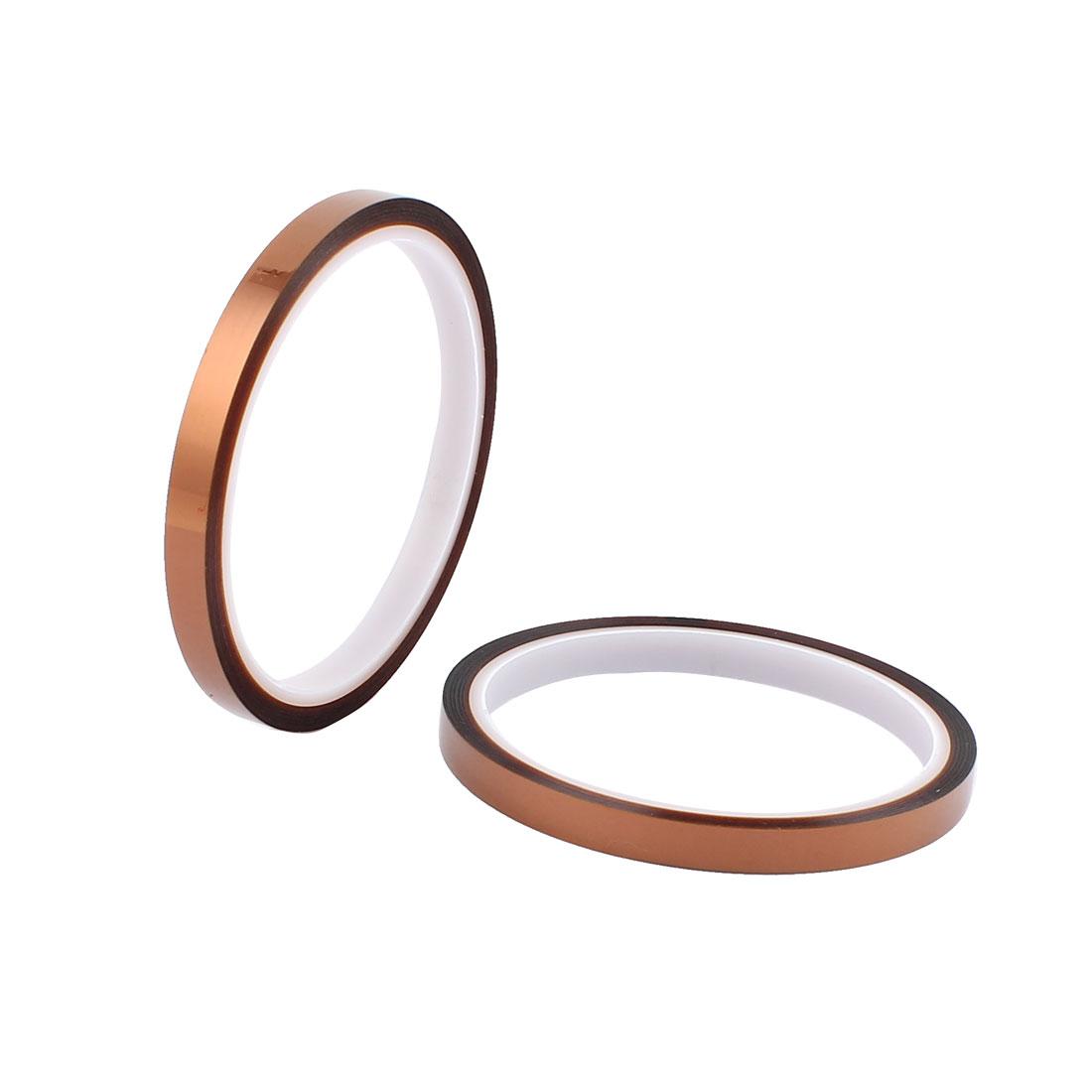 2 Pcs 0.8CM Width 30M Long DIY Tape High Temperature Heat Resistance Polyimide