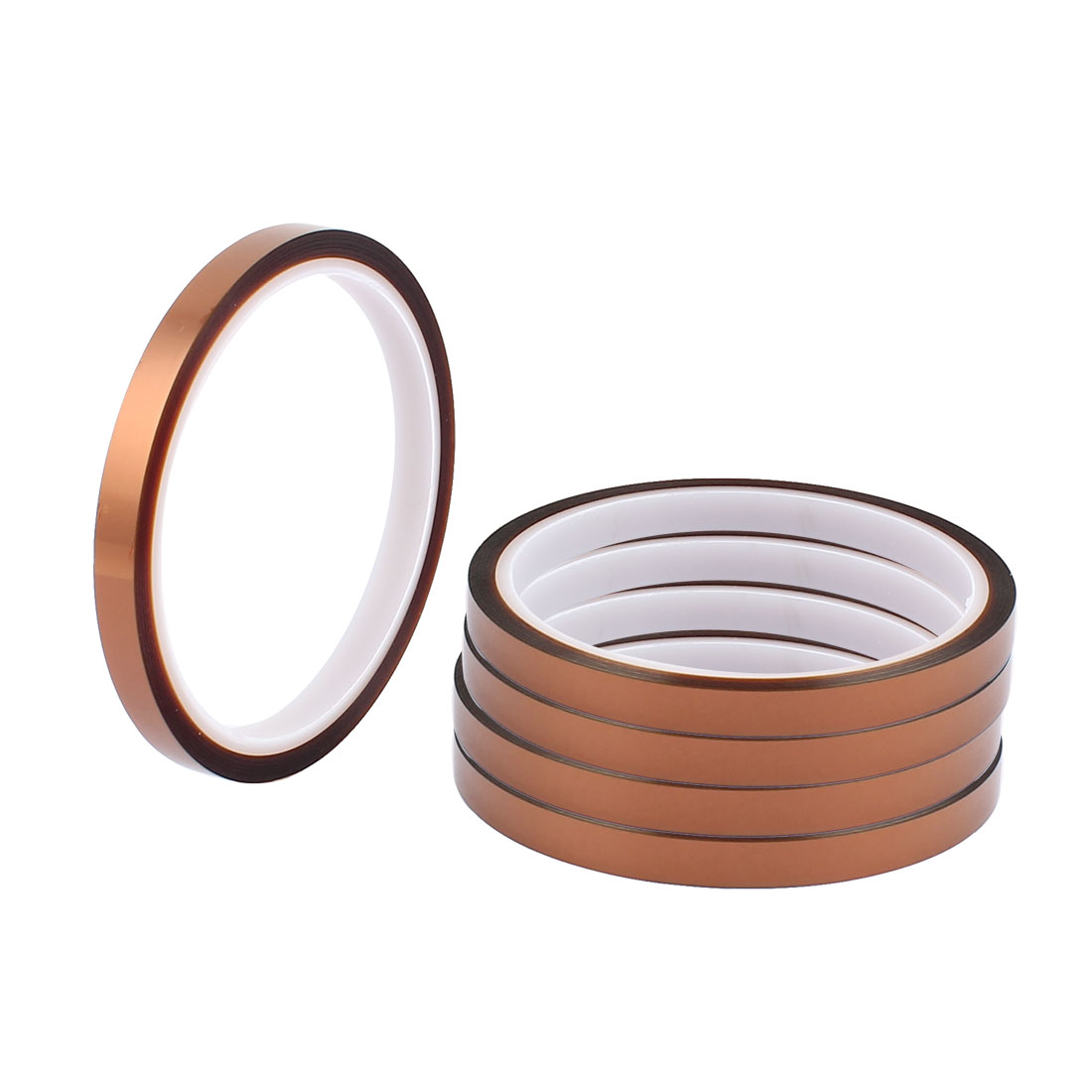 5 Pcs 0.8CM Width 30M Long DIY Tape High Temperature Heat Resistance Polyimide