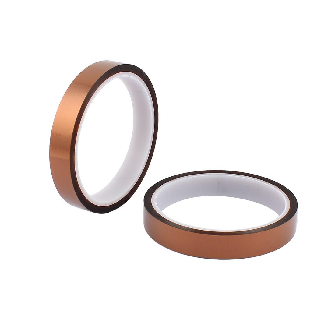 2 Pcs 1.5CM Width 30M Long DIY Tape High Temperature Heat Resistance Polyimide