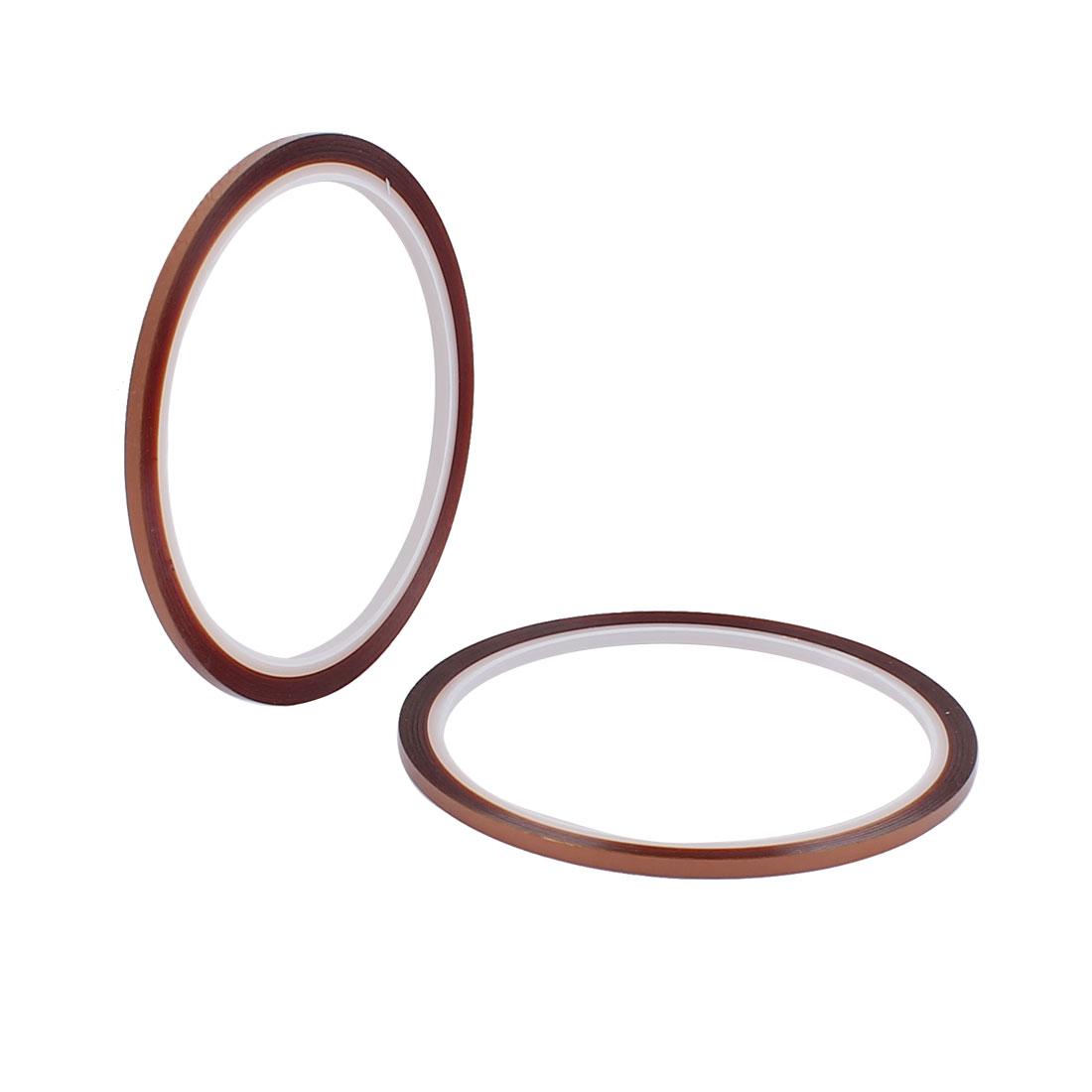 2 Pcs 0.3CM Width 30M Long DIY Tape High Temperature Heat Resistance Polyimide