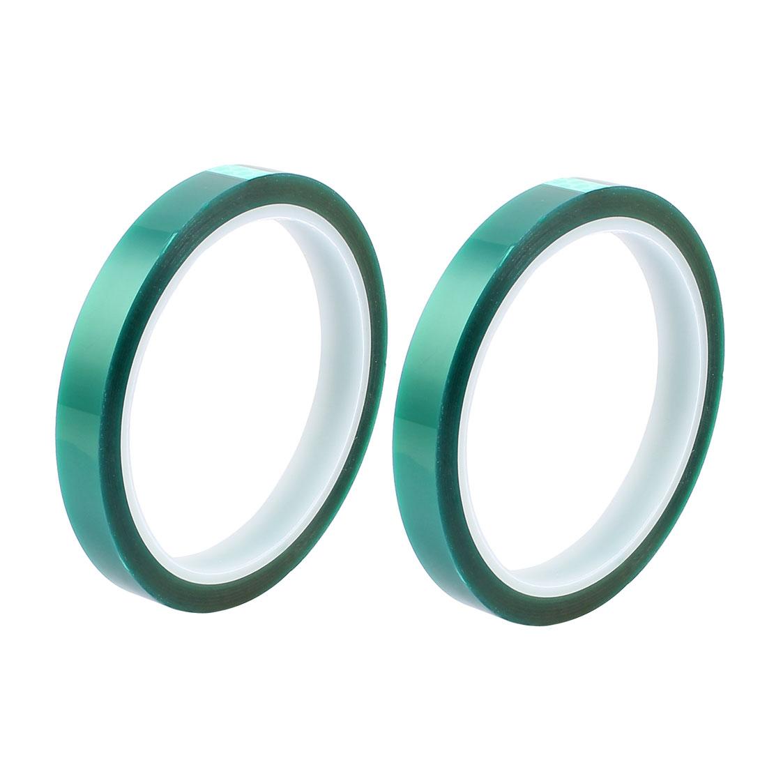 2pcs 10mm Width 33M Long Green PET High Temperature Heat Resistant PCB Solder Tape