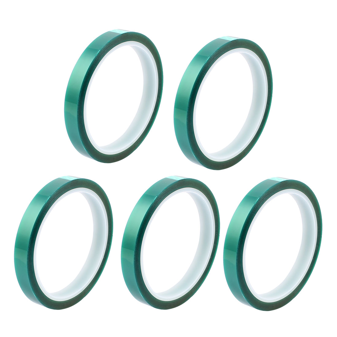 5pcs 10mm Width 33M Long Green PET High Temperature Heat Resistant PCB Solder Tape