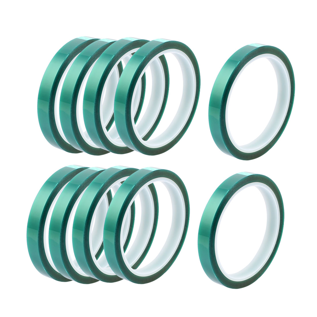 10pcs 10mm Width 33M Long Green PET High Temperature Heat Resistant PCB Solder Tape