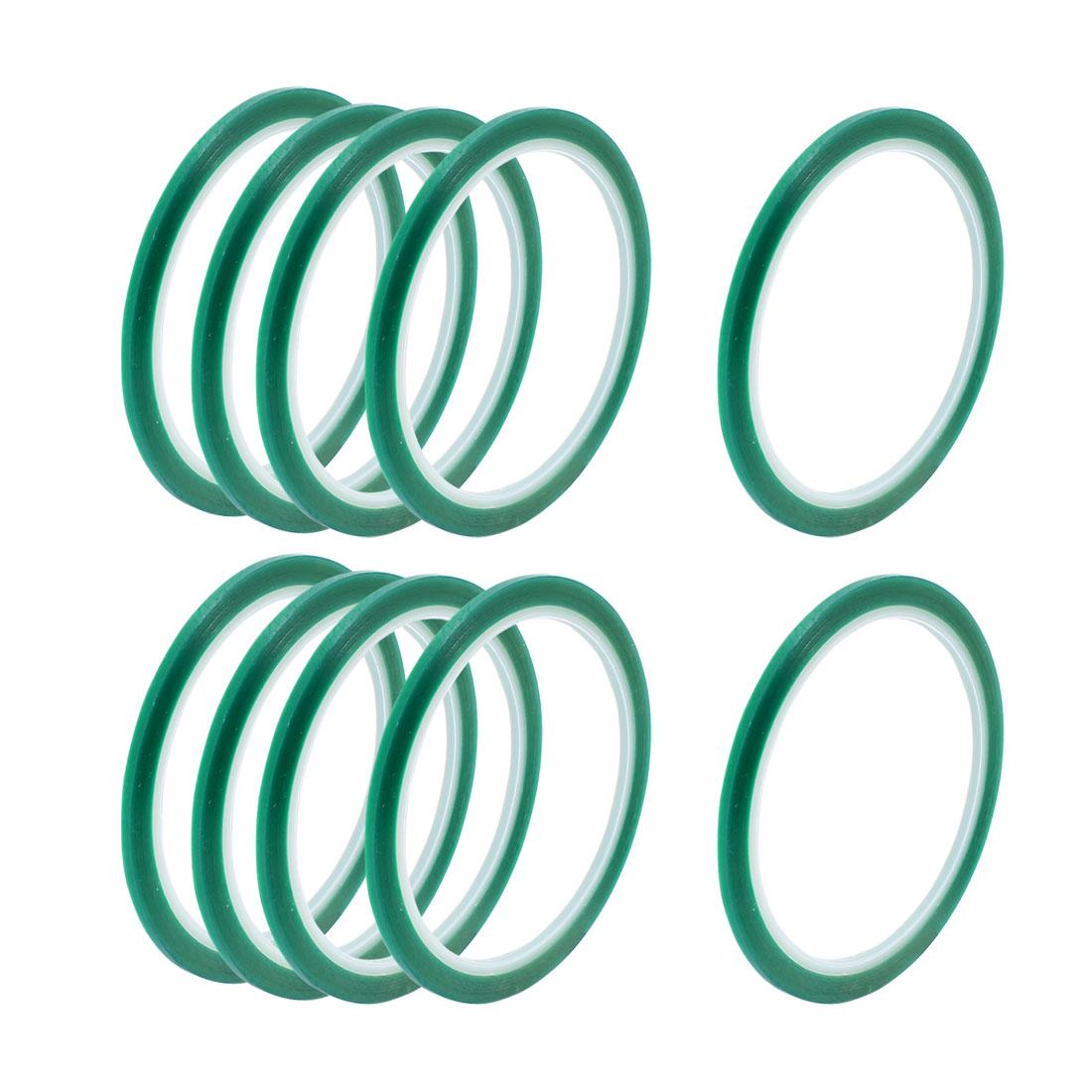 10pcs 3mm Width 33M Long Green PET High Temperature Heat Resistant PCB Solder Tape