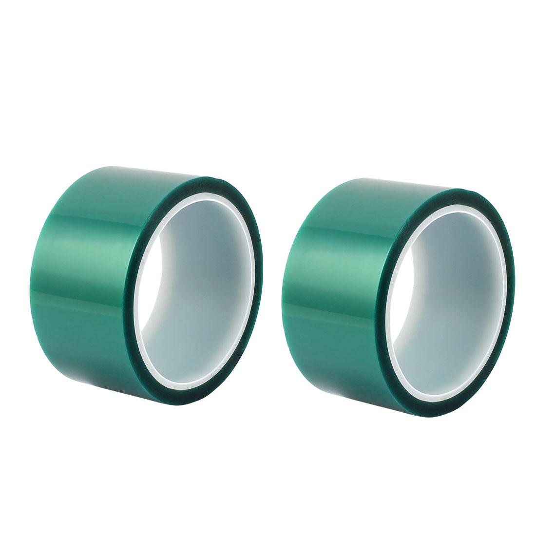 2pcs 50mm Width 33M Long Green PET High Temperature Heat Resistant PCB Solder Tape
