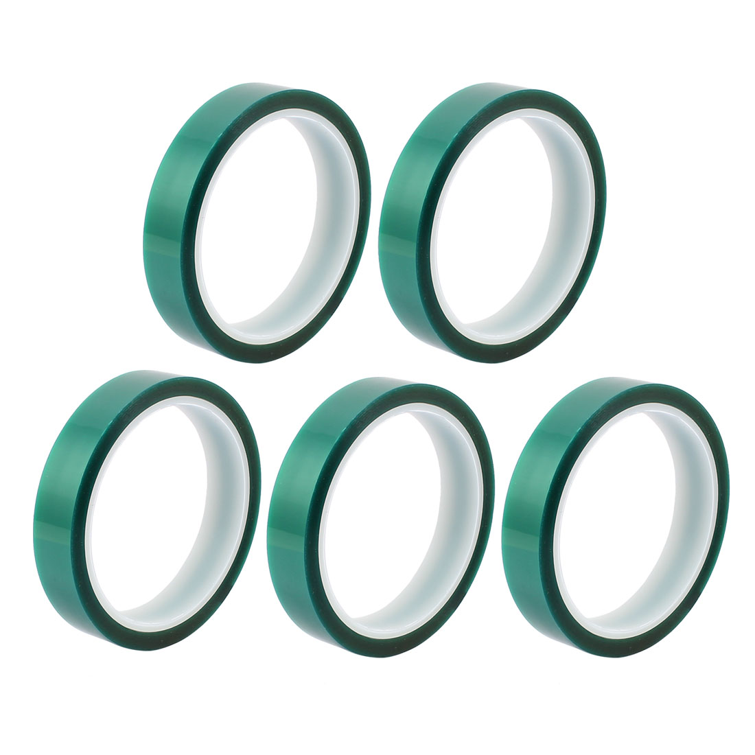 5pcs 18mm Width 33M Long Green PET High Temperature Heat Resistant PCB Solder Tape