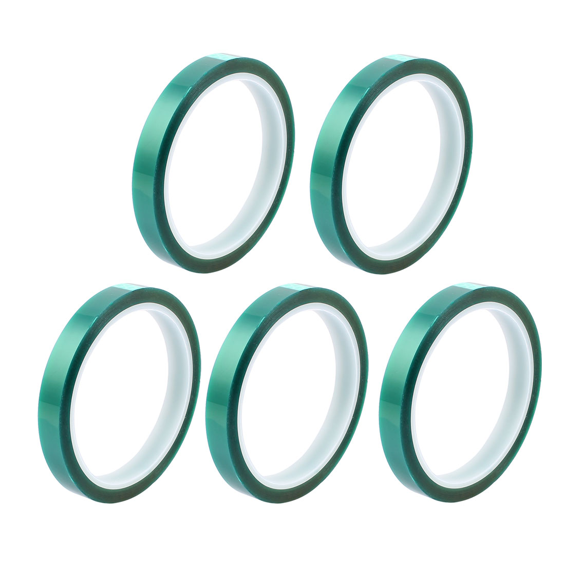5pcs 12mm Width 33M Long Green PET High Temperature Heat Resistant PCB Solder Tape