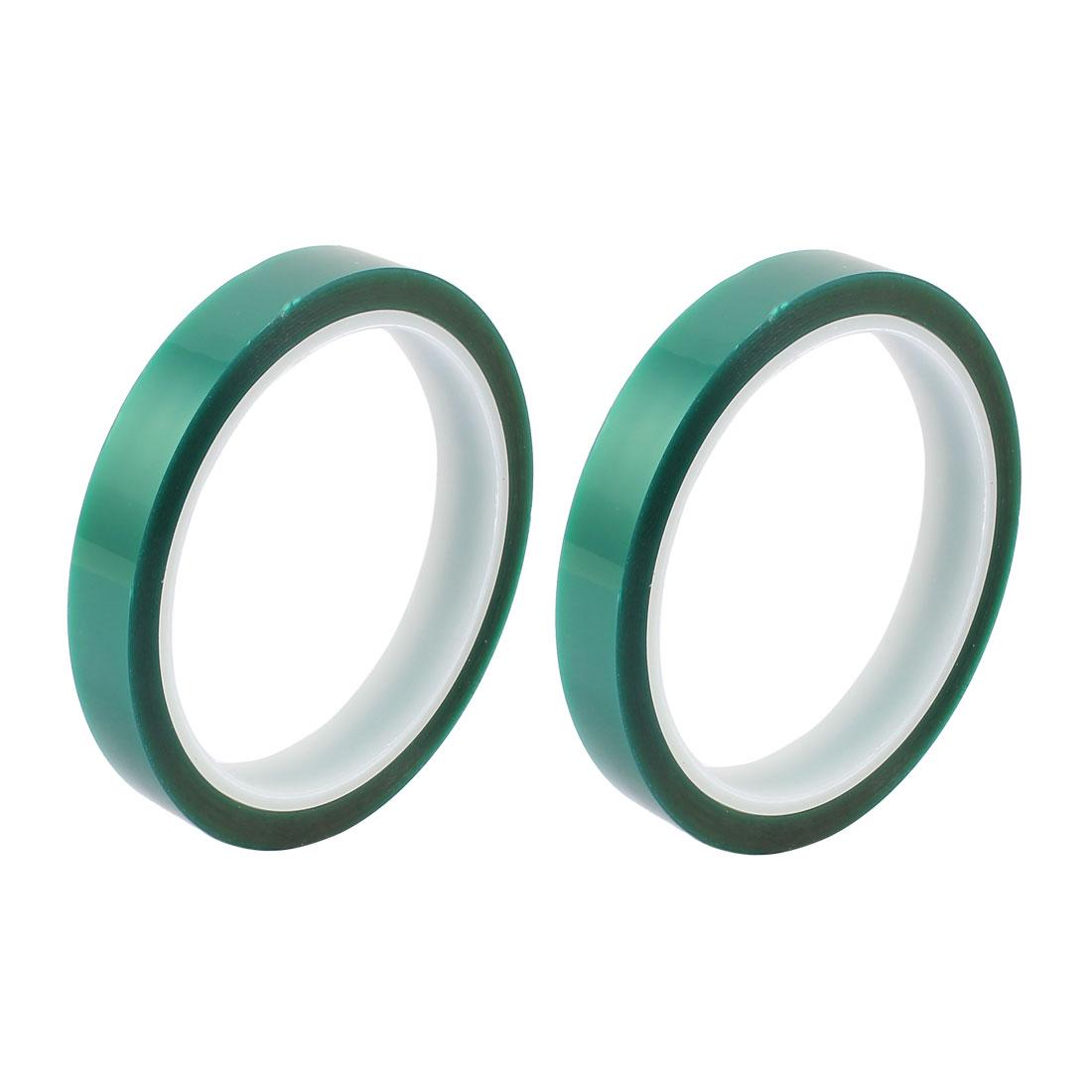 2pcs 15mm Width 33M Long Green PET High Temperature Heat Resistant PCB Solder Tape