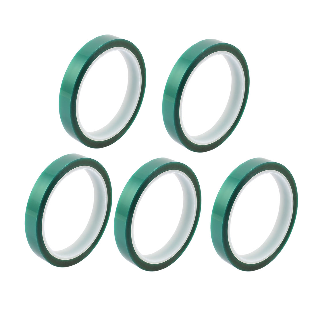 5pcs 15mm Width 33M Long Green PET High Temperature Heat Resistant PCB Solder Tape