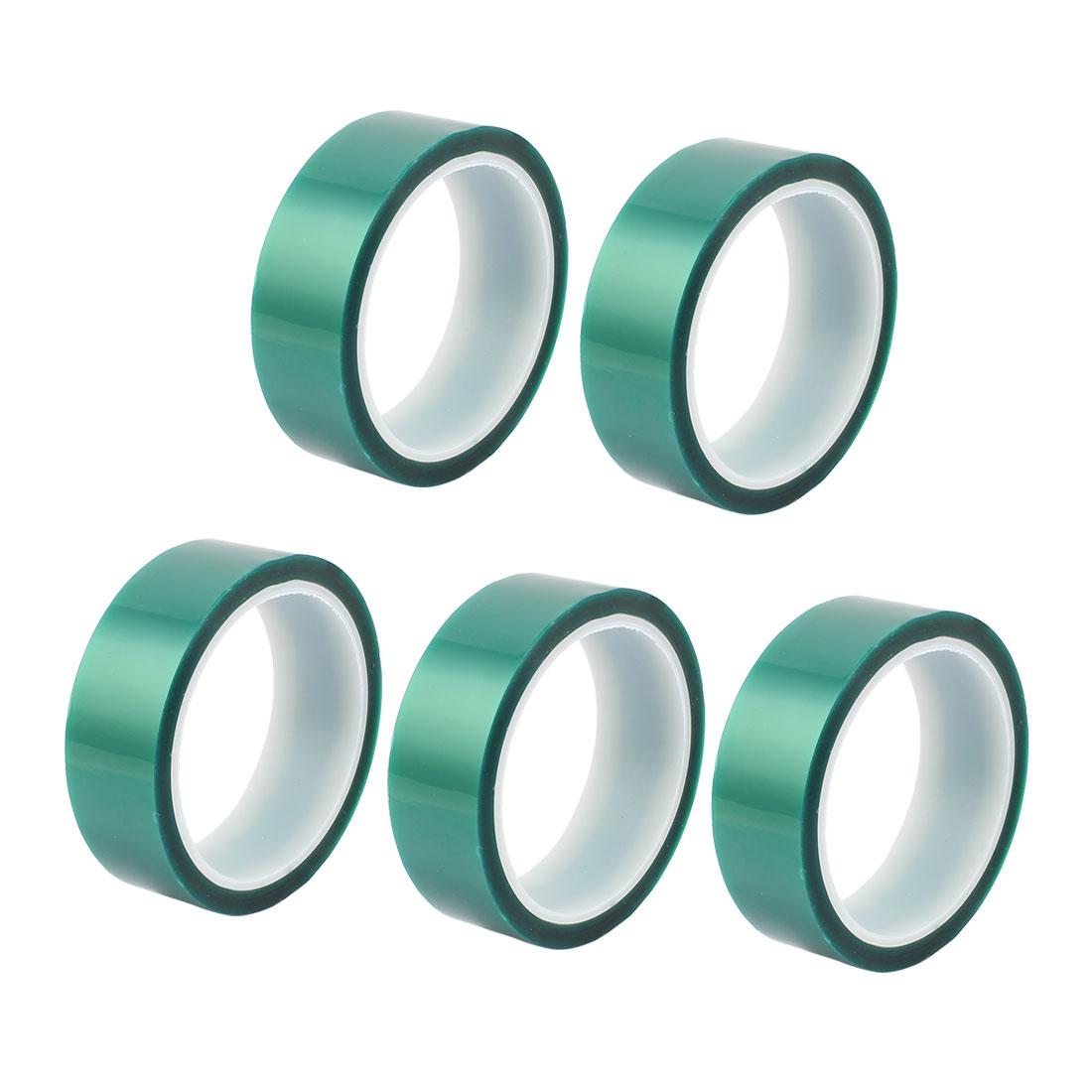 5pcs 30mm Width 33M Long Green PET High Temperature Heat Resistant PCB Solder Tape