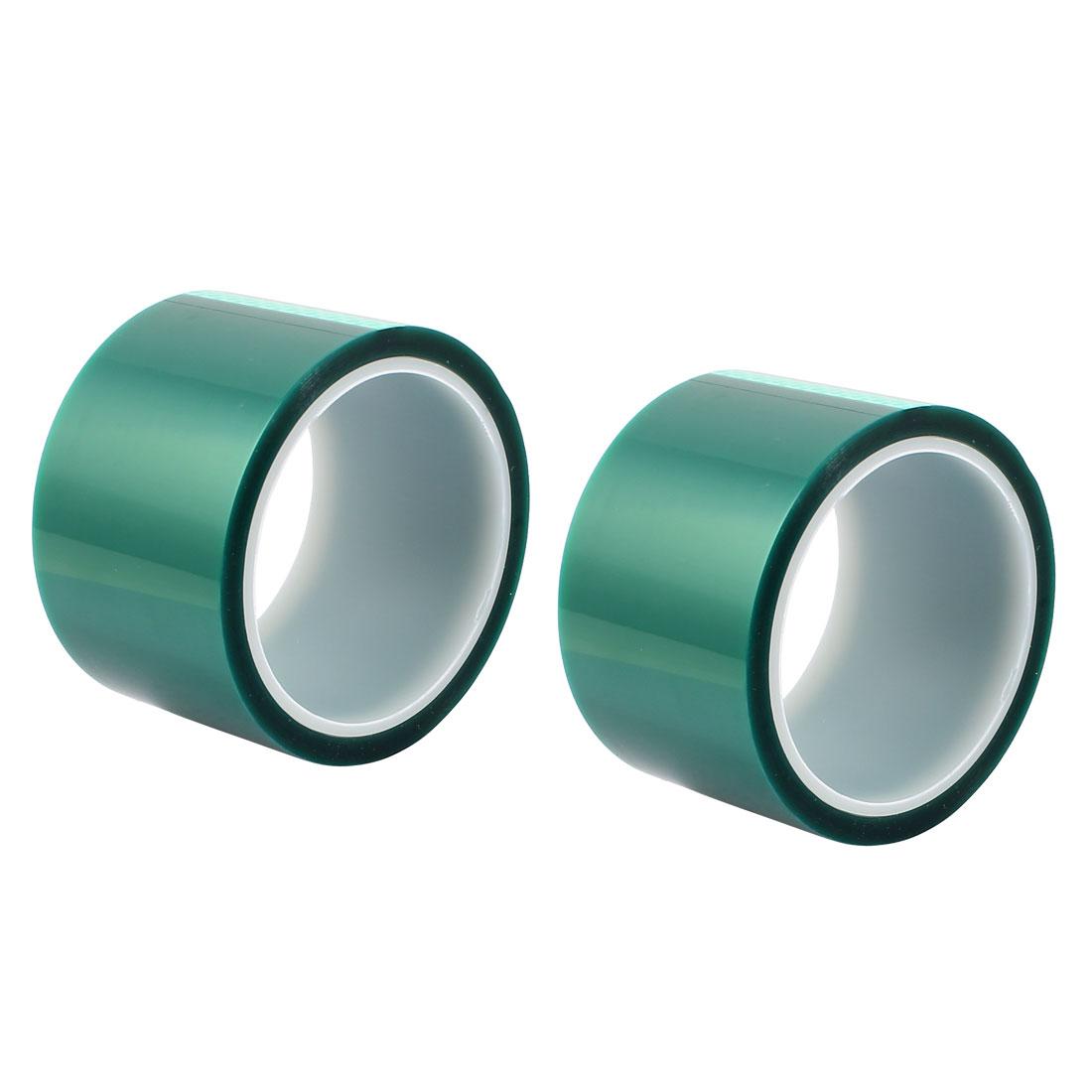 2pcs 60mm Width 33M Long Green PET High Temperature Heat Resistant PCB Solder Tape