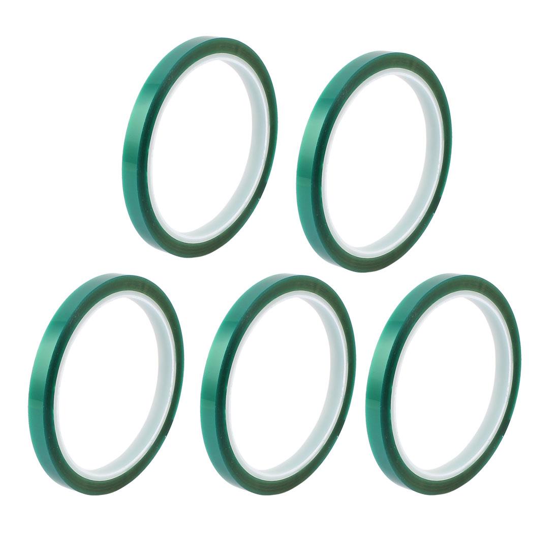 5pcs 8mm Width 33M Long Green PET High Temperature Heat Resistant PCB Solder Tape