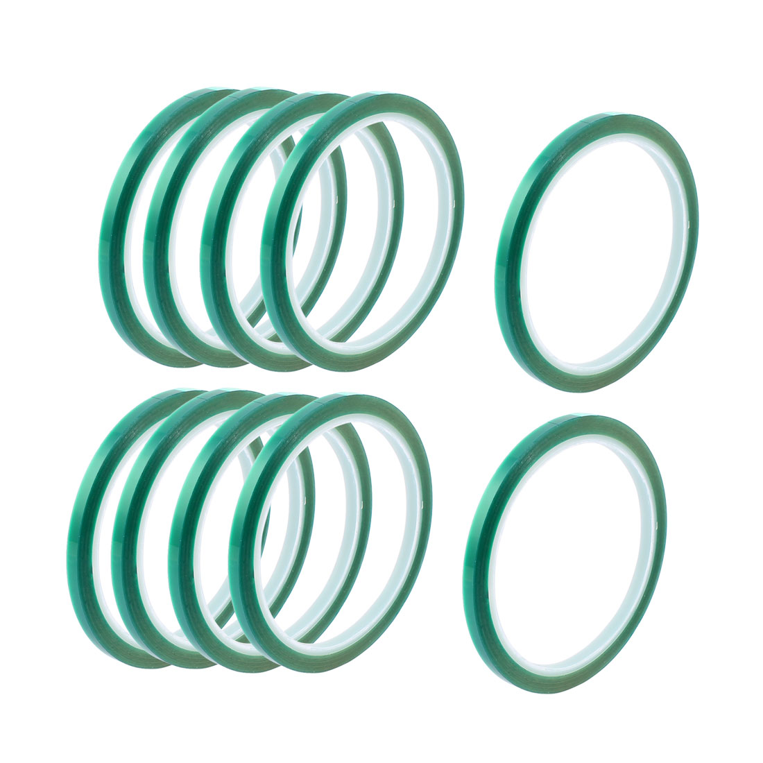 10pcs 5mm Width 33M Long Green PET High Temperature Heat Resistant PCB Solder Tape