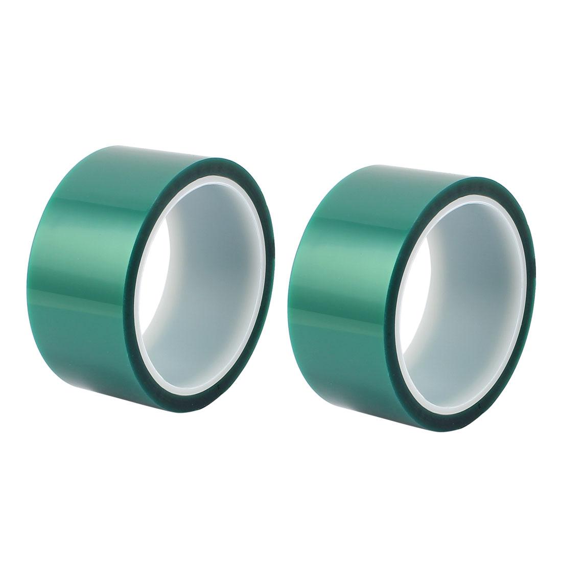2pcs 45mm Width 33M Long Green PET High Temperature Heat Resistant PCB Solder Tape