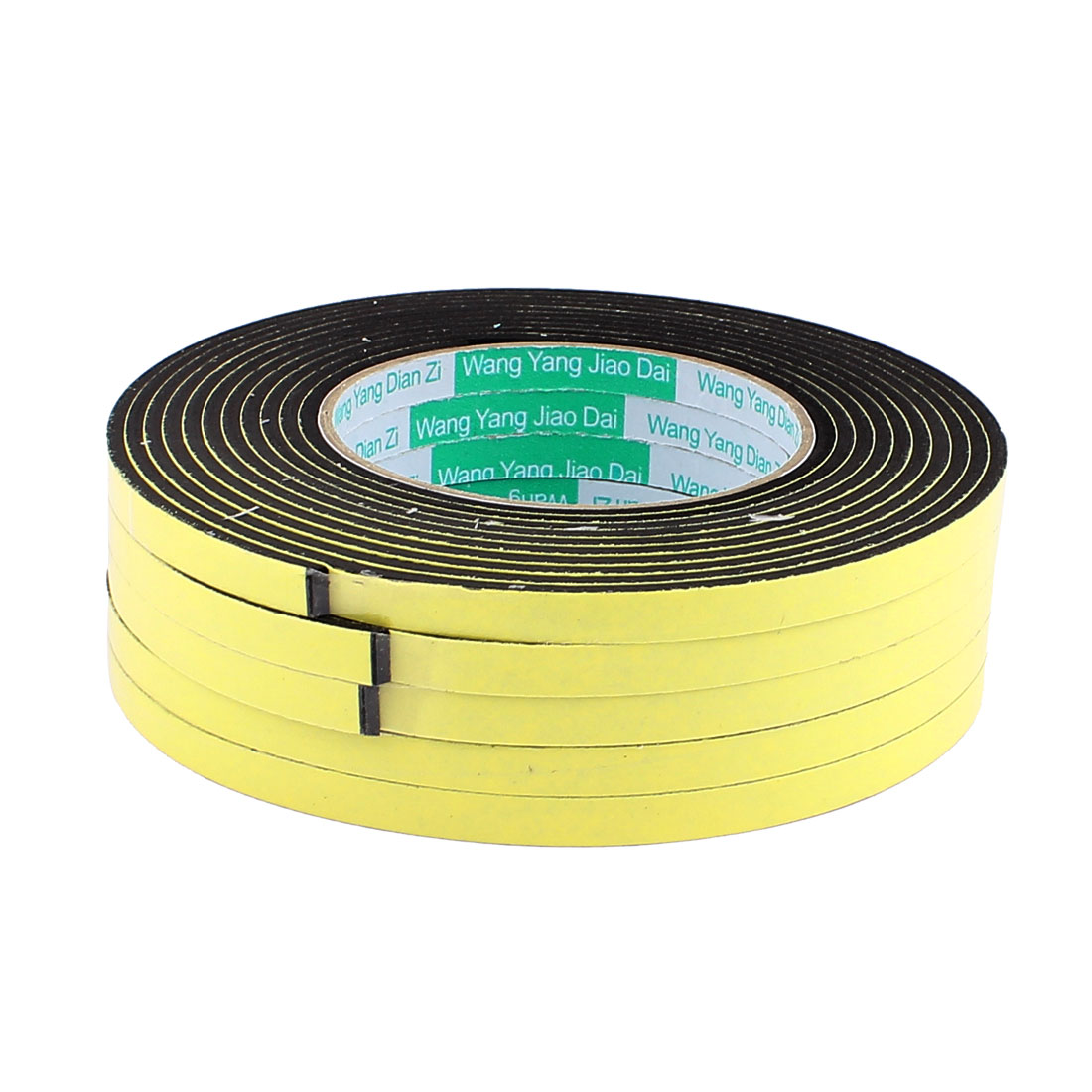 5 Pcs 0.8CM Width 4M Length 3MM Thick Single Sided Sealing Shockproof Sponge Tape