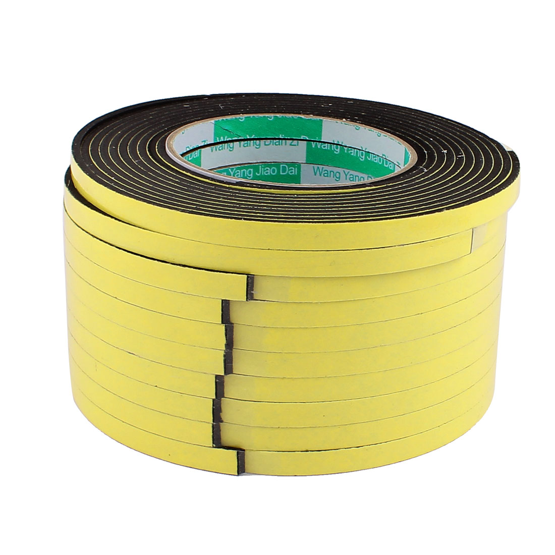 10 Pcs 0.8CM Width 4M Length 3MM Thick Single Sided Sealing Shockproof Sponge Tape