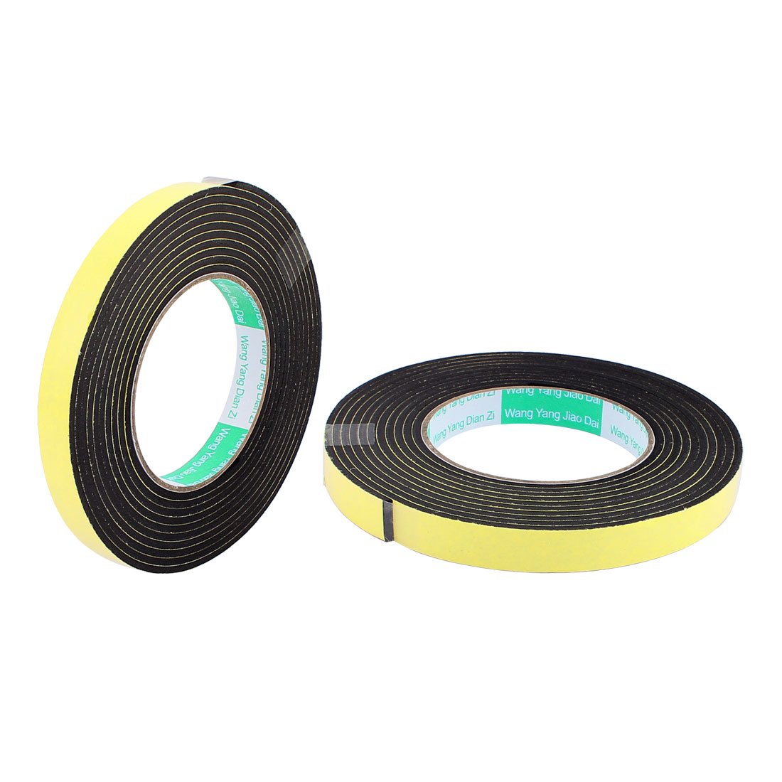 2 Pcs 1.5CM Width 4M Length 3MM Thick Single Sided Sealing Shockproof Sponge Tape