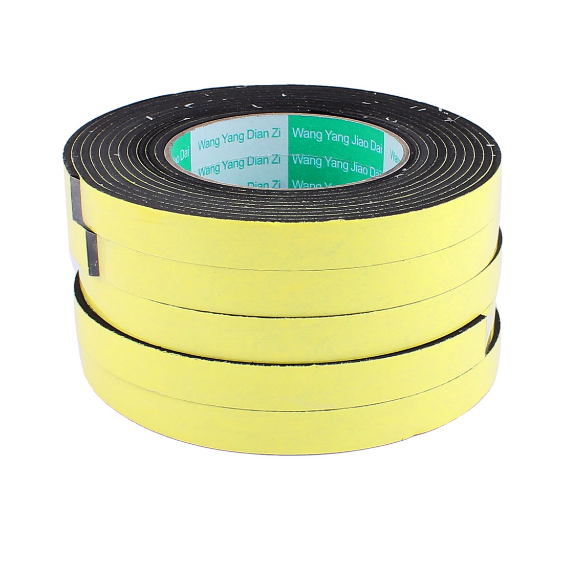 "5 Pcs 0.59""CM Width 4M Length 3MM Thick Single Sided Sealing Shockproof Sponge Tape"