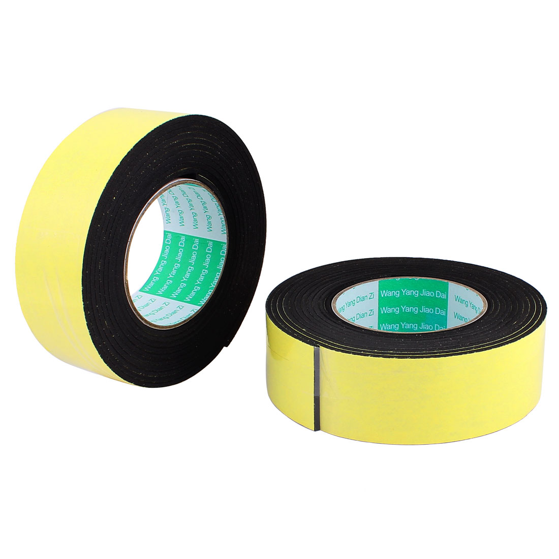 2 Pcs 4.5CM Width 4M Length 3MM Thick Single Sided Sealing Shockproof Sponge Tape