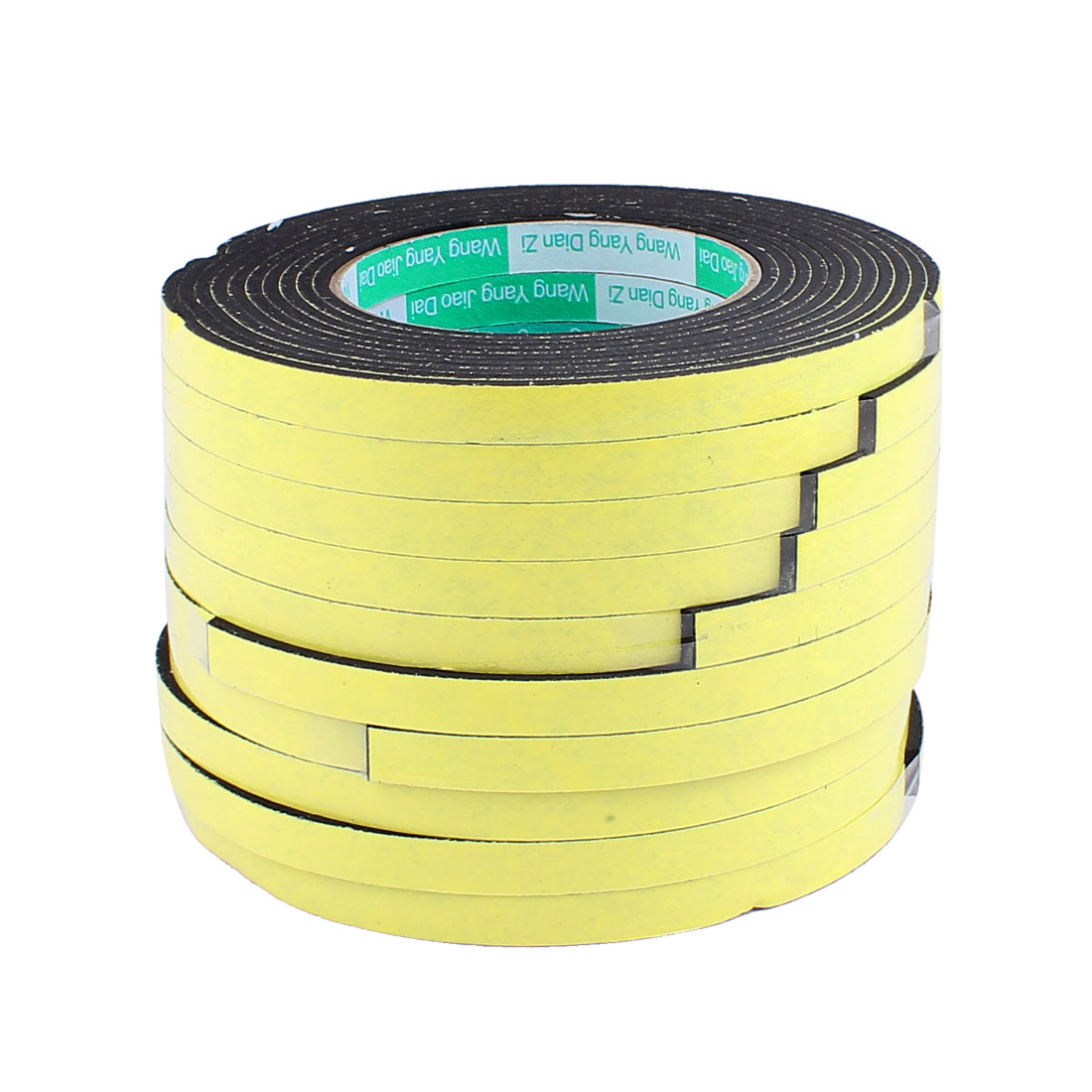 10 Pcs 1CM Width 4M Length 3MM Thick Single Sided Sealing Shockproof Sponge Tape