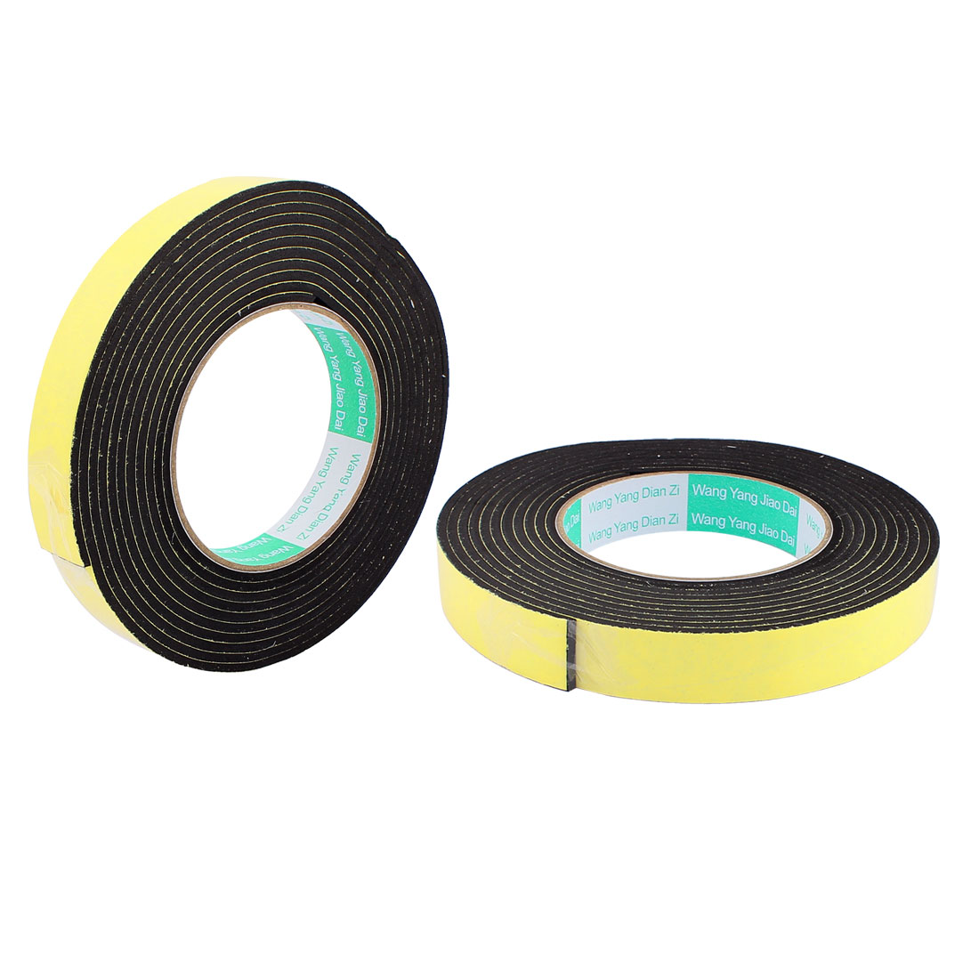2 Pcs 2CM Width 4M Length 3MM Thick Single Sided Sealing Shockproof Sponge Tape
