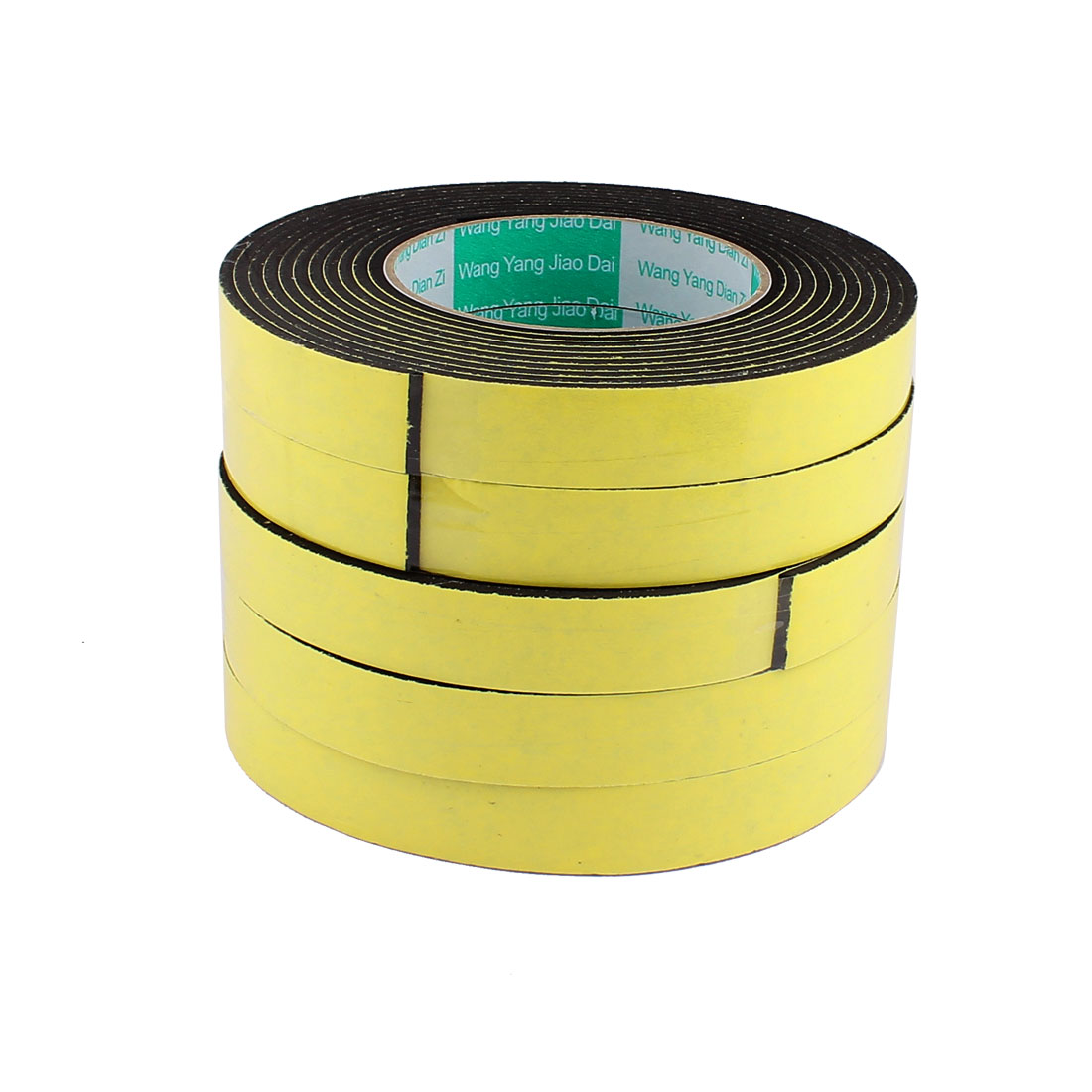5 Pcs 2CM Width 4M Length 3MM Thick Single Sided Sealing Shockproof Sponge Tape