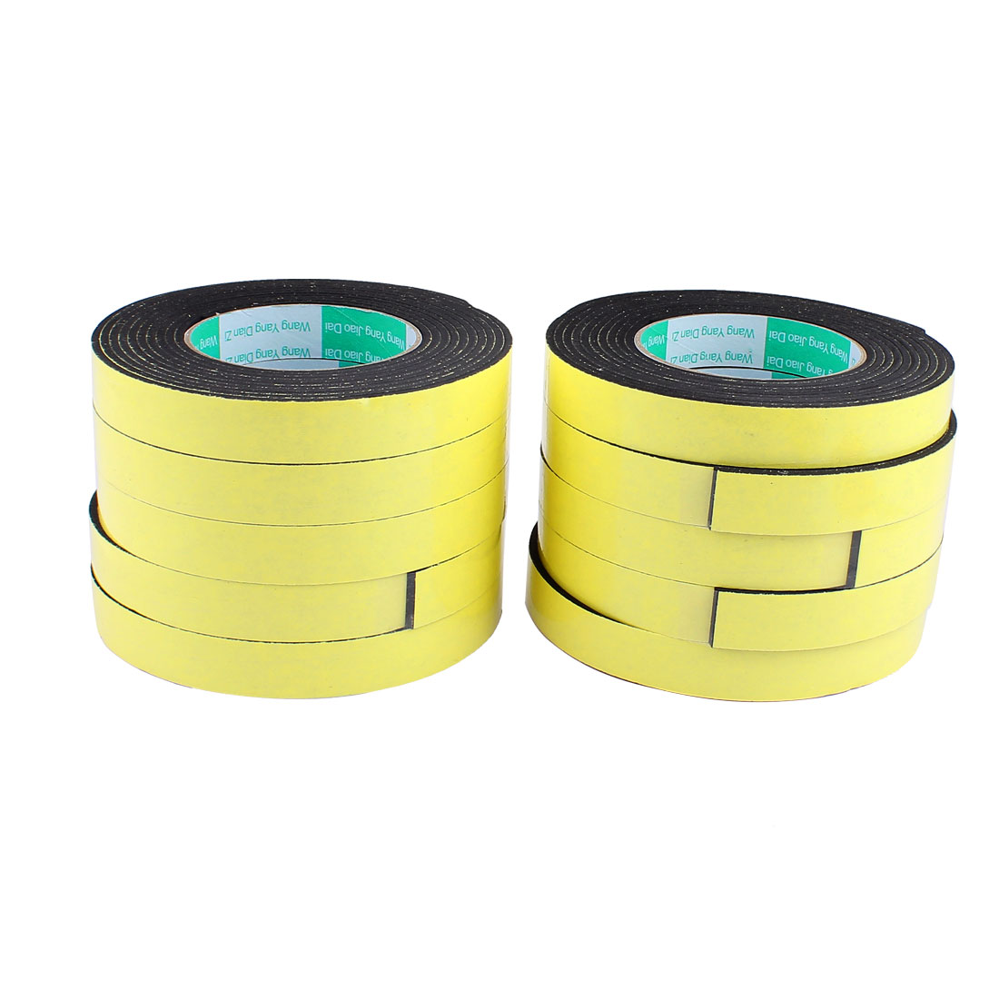 10 Pcs 2CM Width 4M Length 3MM Thick Single Sided Sealing Shockproof Sponge Tape