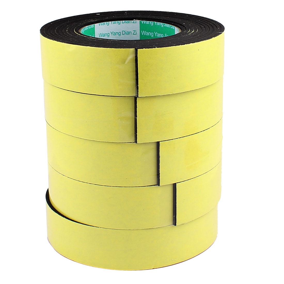 5 Pcs 3.5CM Width 4M Length 3MM Thick Single Sided Sealing Shockproof Sponge Tape