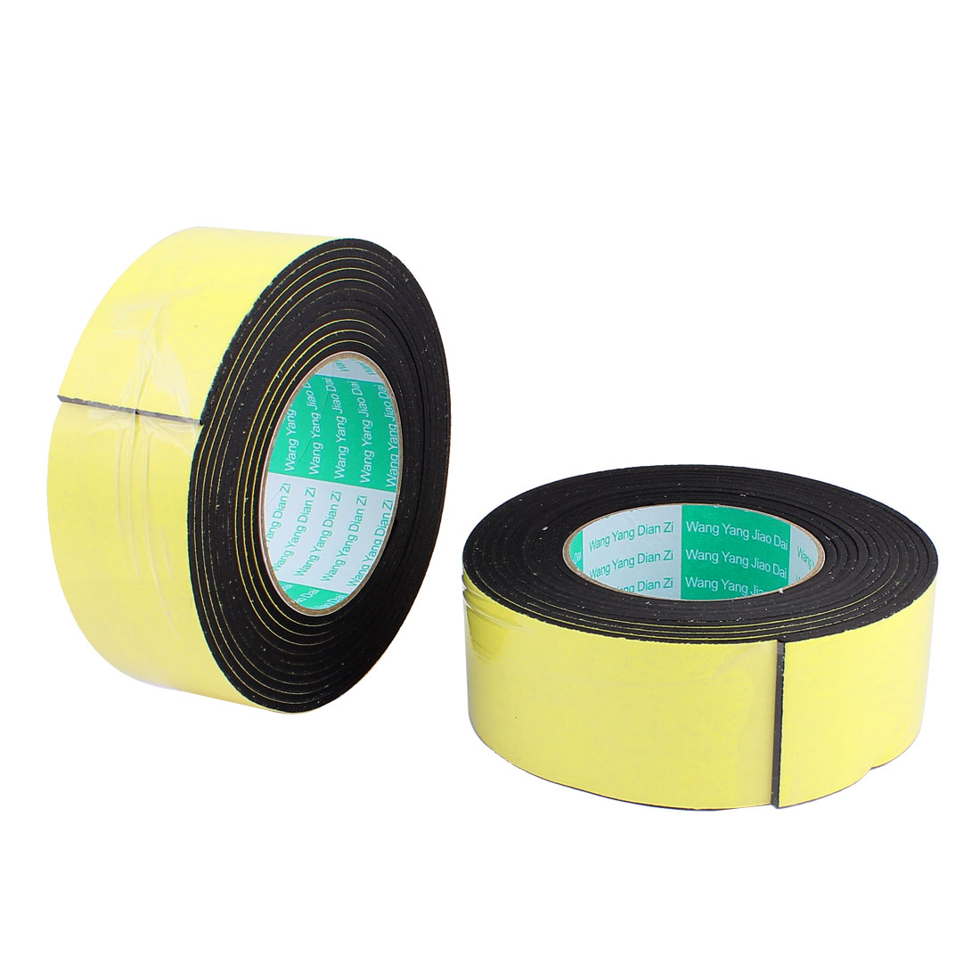 2 Pcs 5CM Width 4M Length 3MM Thick Single Sided Sealing Shockproof Sponge Tape
