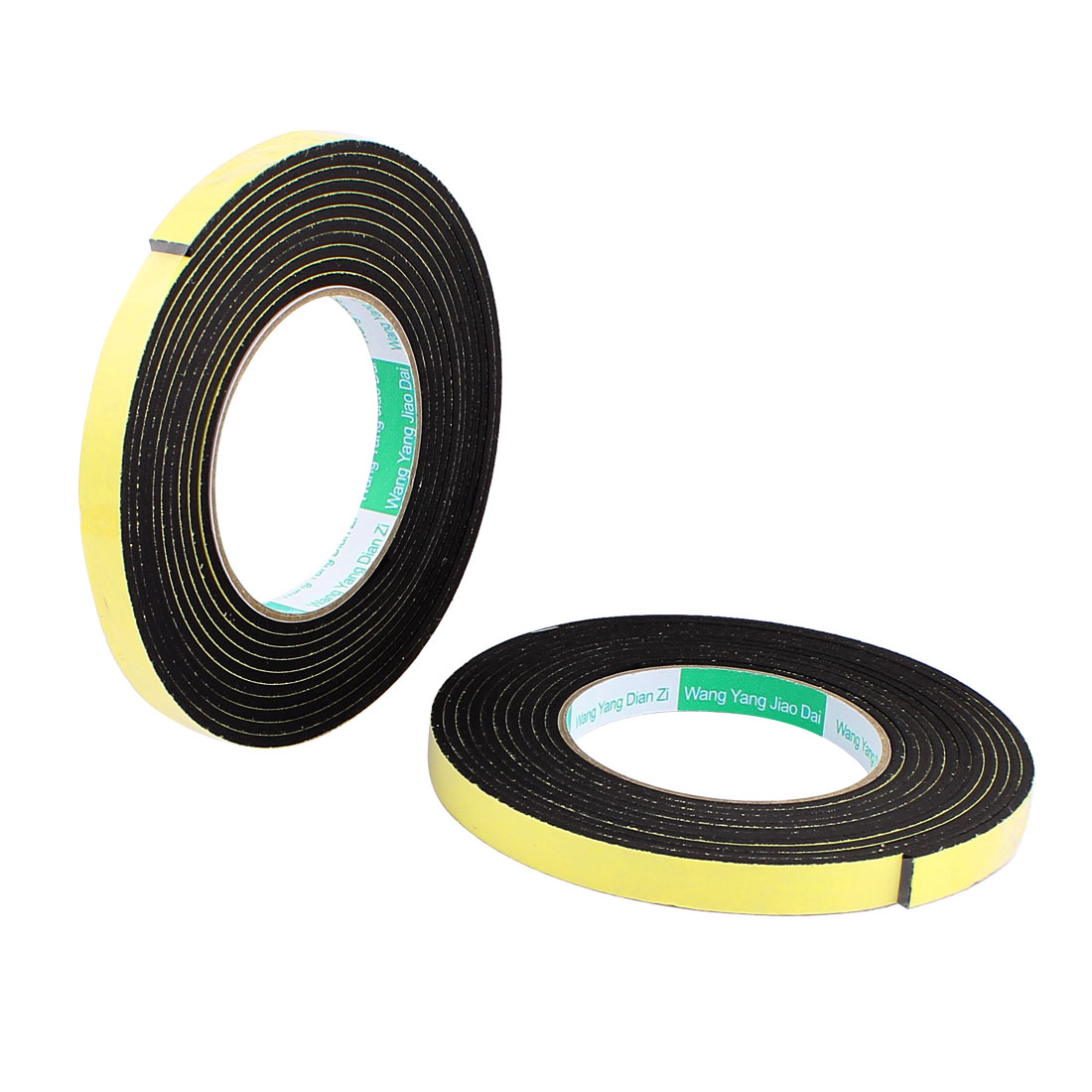 2 Pcs 1.2CM Width 4M Length 3MM Thick Single Sided Sealing Shockproof Sponge Tape
