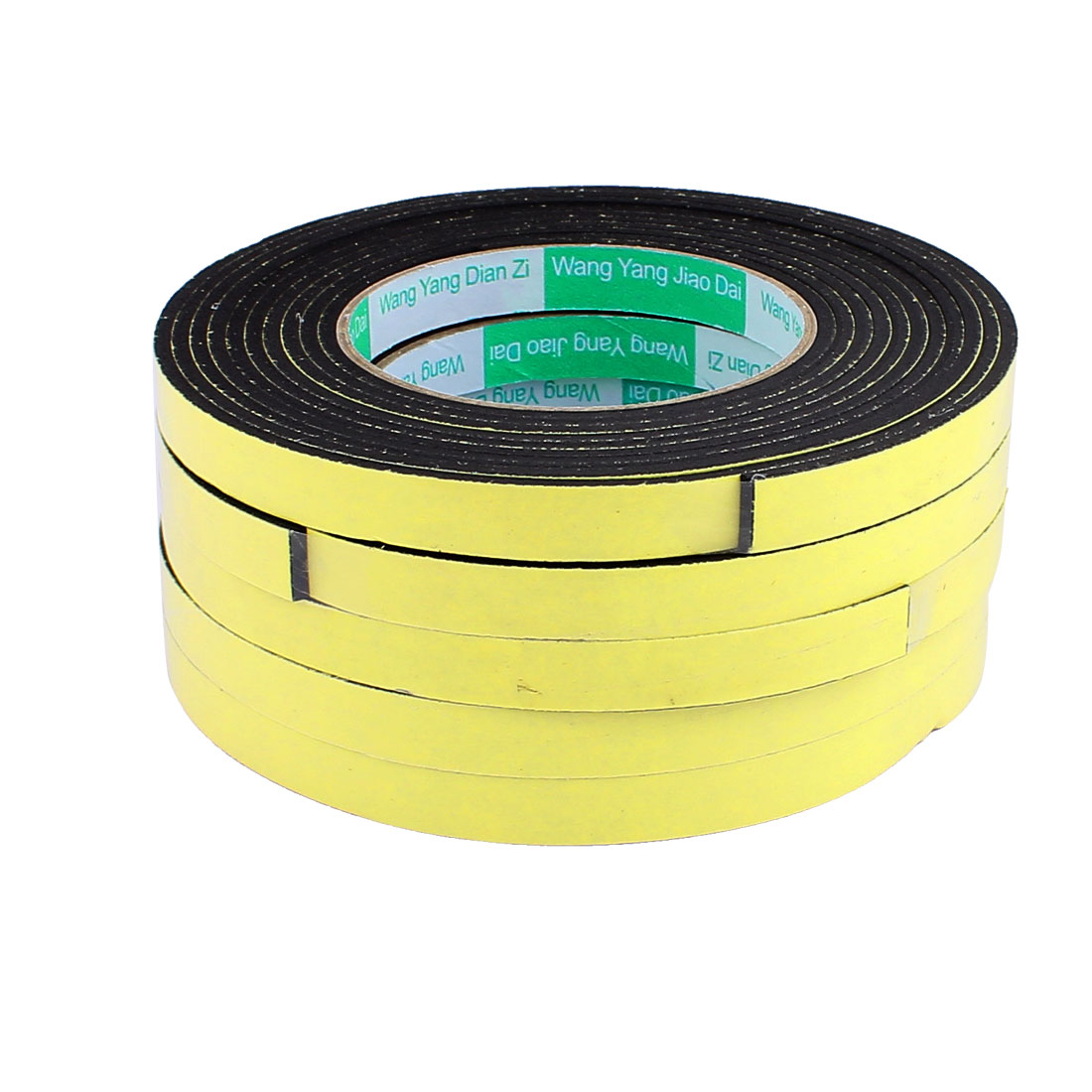 5 Pcs 1.2CM Width 4M Length 3MM Thick Single Sided Sealing Shockproof Sponge Tape
