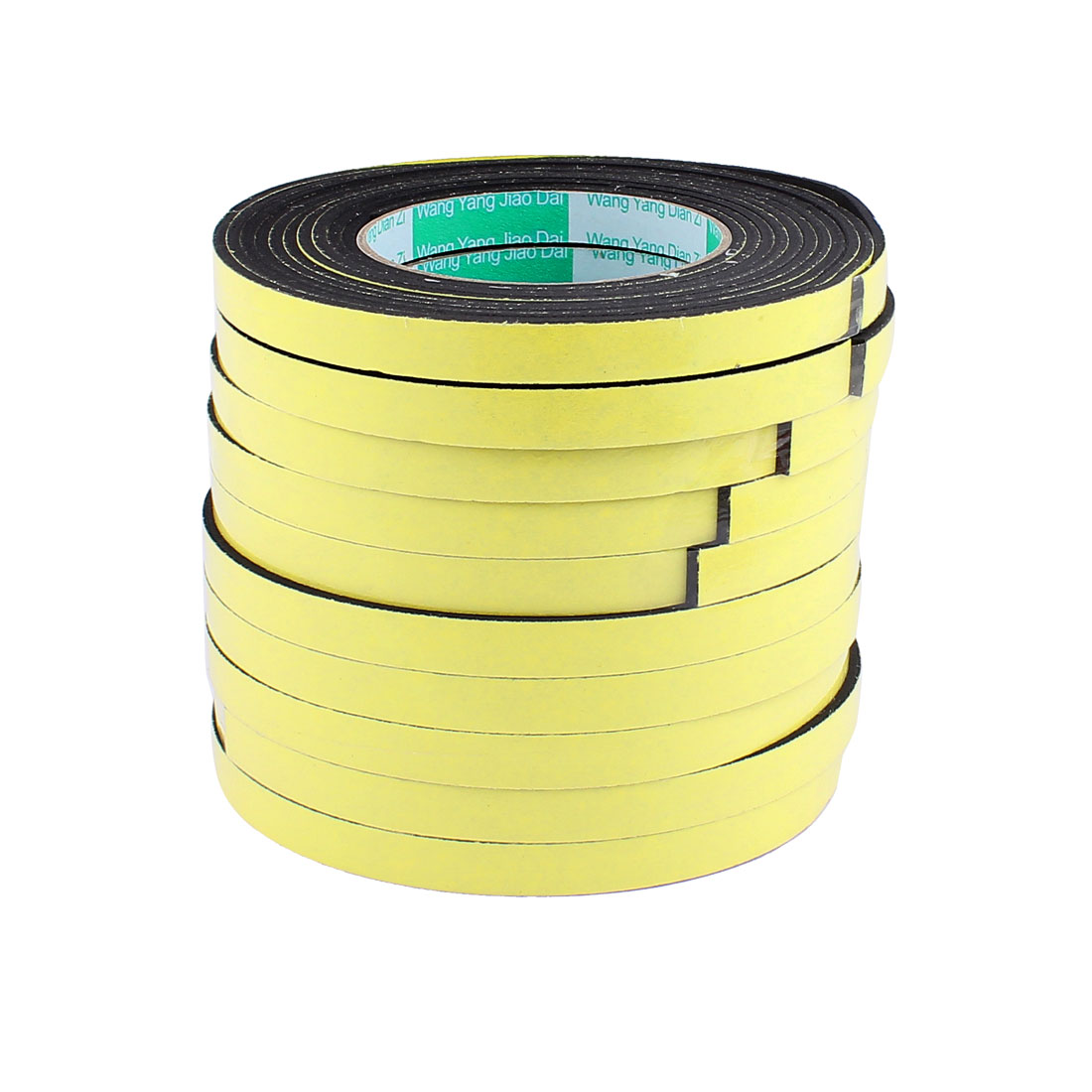 10 Pcs 1.2CM Width 4M Length 3MM Thick Single Sided Sealing Shockproof Sponge Tape