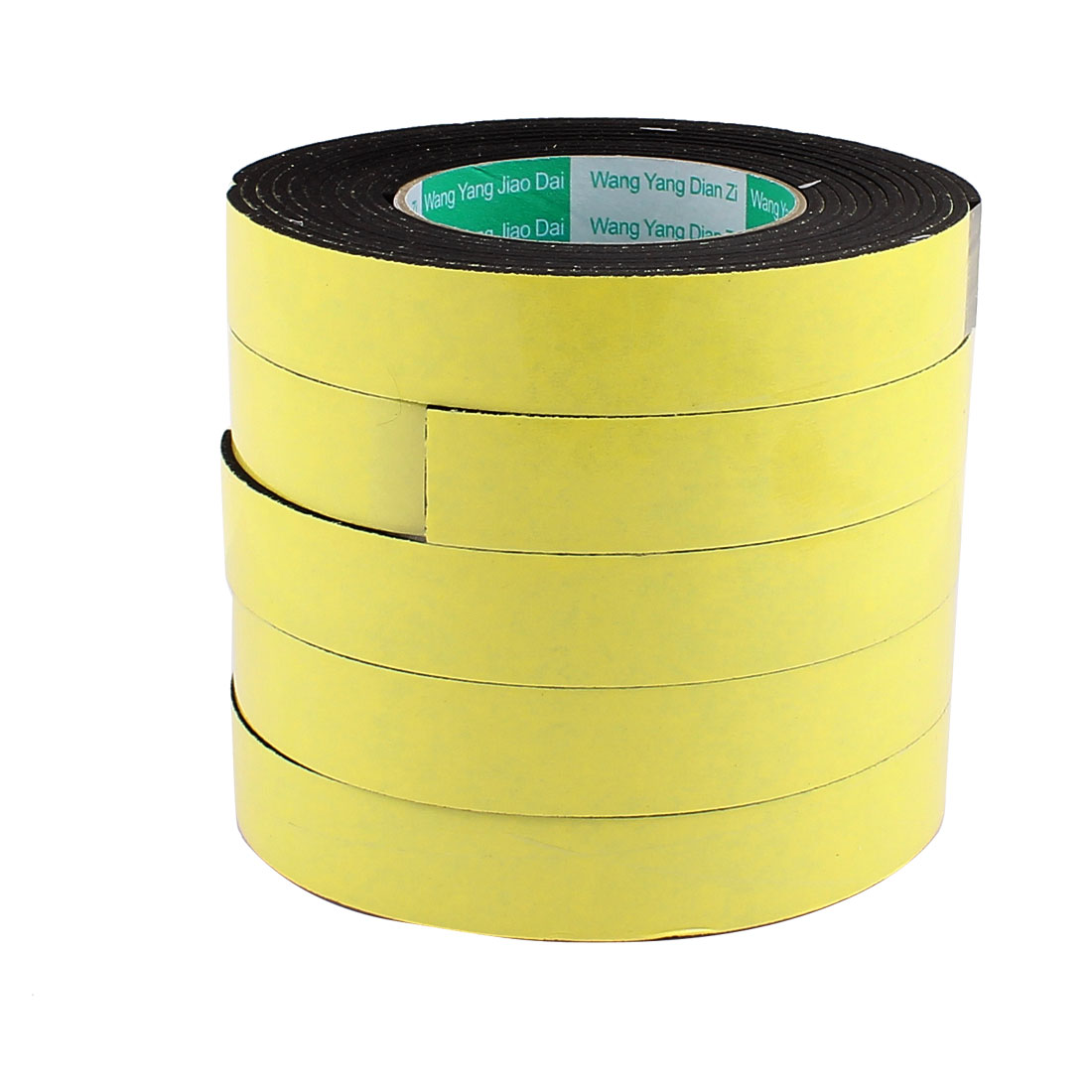 "5 Pcs 0.98""Width 13.12ft Length 3MM Thick Single Sided Sealing Shockproof Sponge Tape"