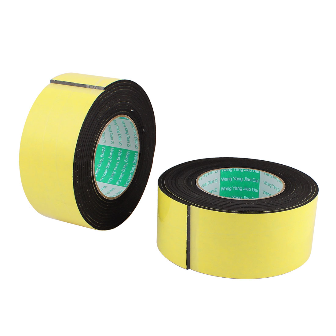 2 Pcs 6CM Width 4M Length 3MM Thick Single Sided Sealing Shockproof Sponge Tape
