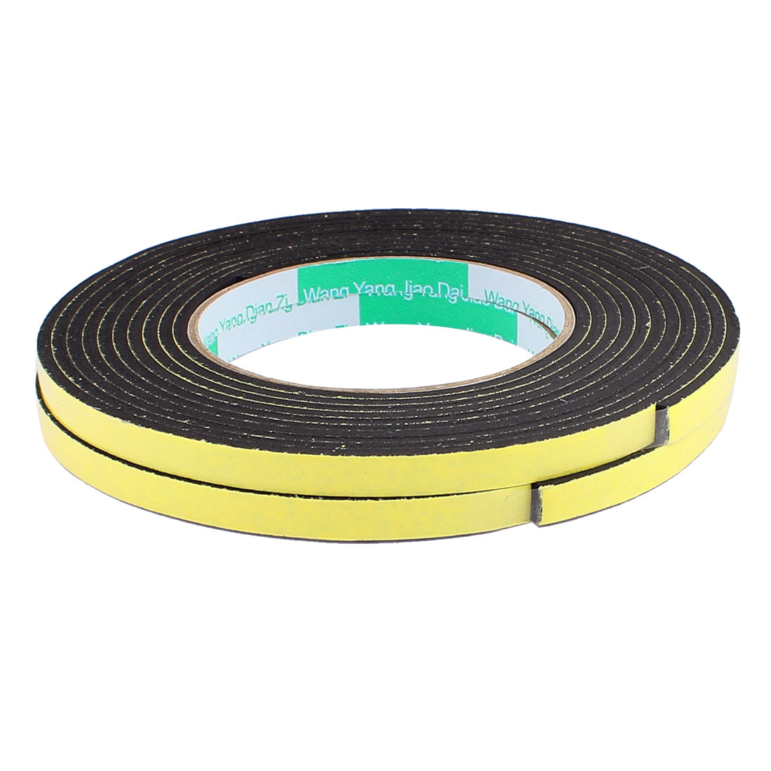 2 Pcs 0.8CM Width 4M Length 3MM Thick Single Sided Sealing Shockproof Sponge Tape