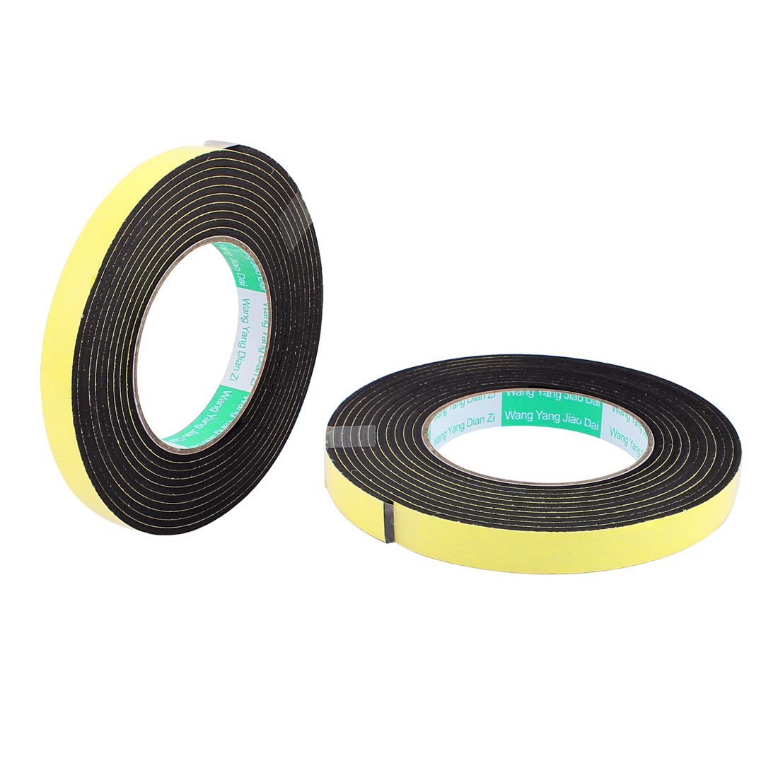 "2 Pcs 0.59""Width 4M Length 3MM Thick Single Sided Sealing Shockproof Sponge Tape"