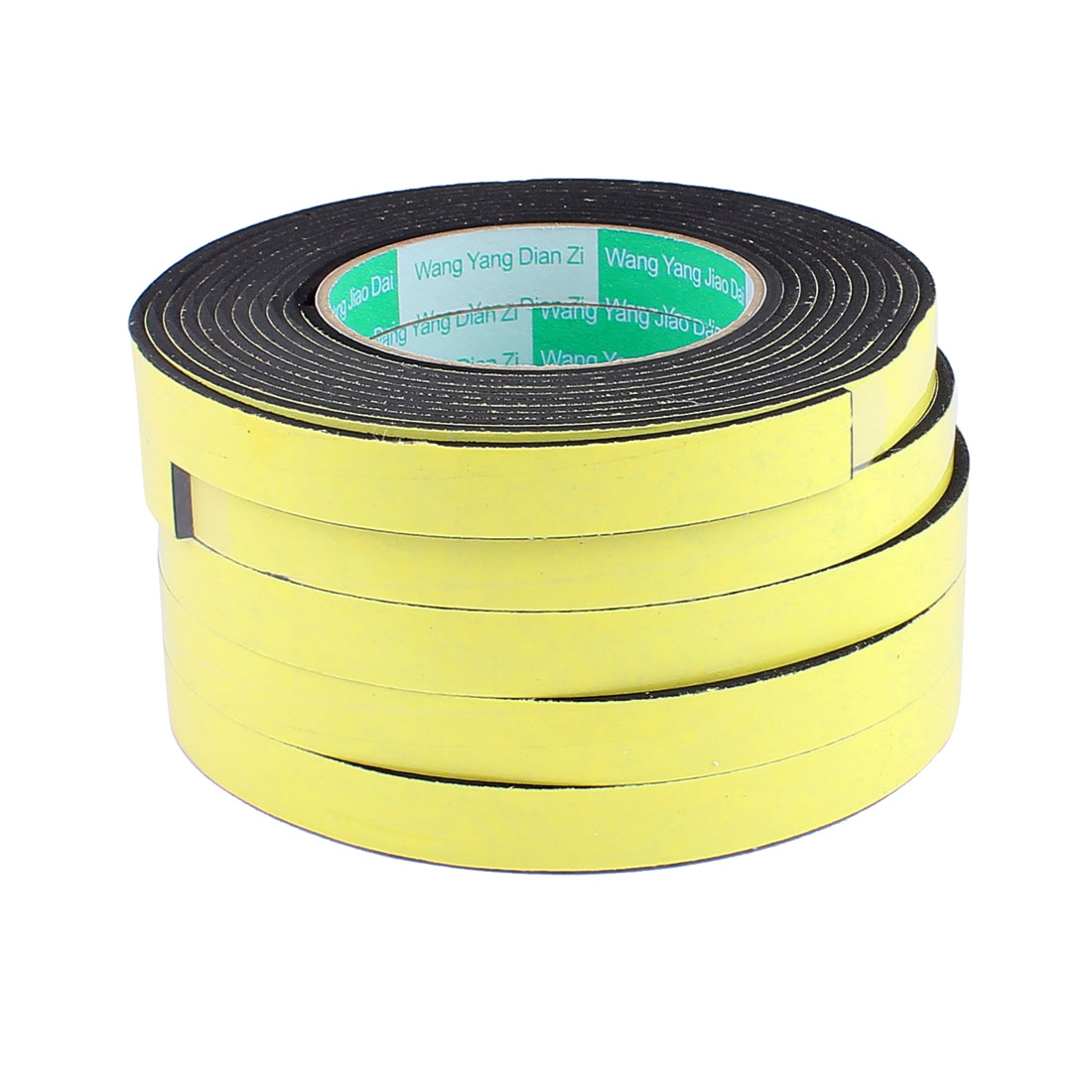 5 Pcs 1.5CM Width 4M Length 3MM Thick Single Sided Sealing Shockproof Sponge Tape