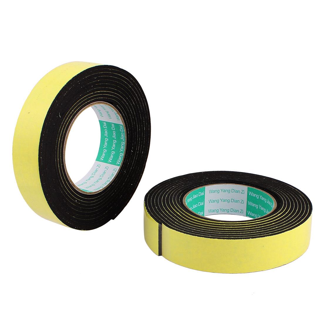 2 Pcs 3CM Width 4M Length 3MM Thick Single Sided Sealing Shockproof Sponge Tape